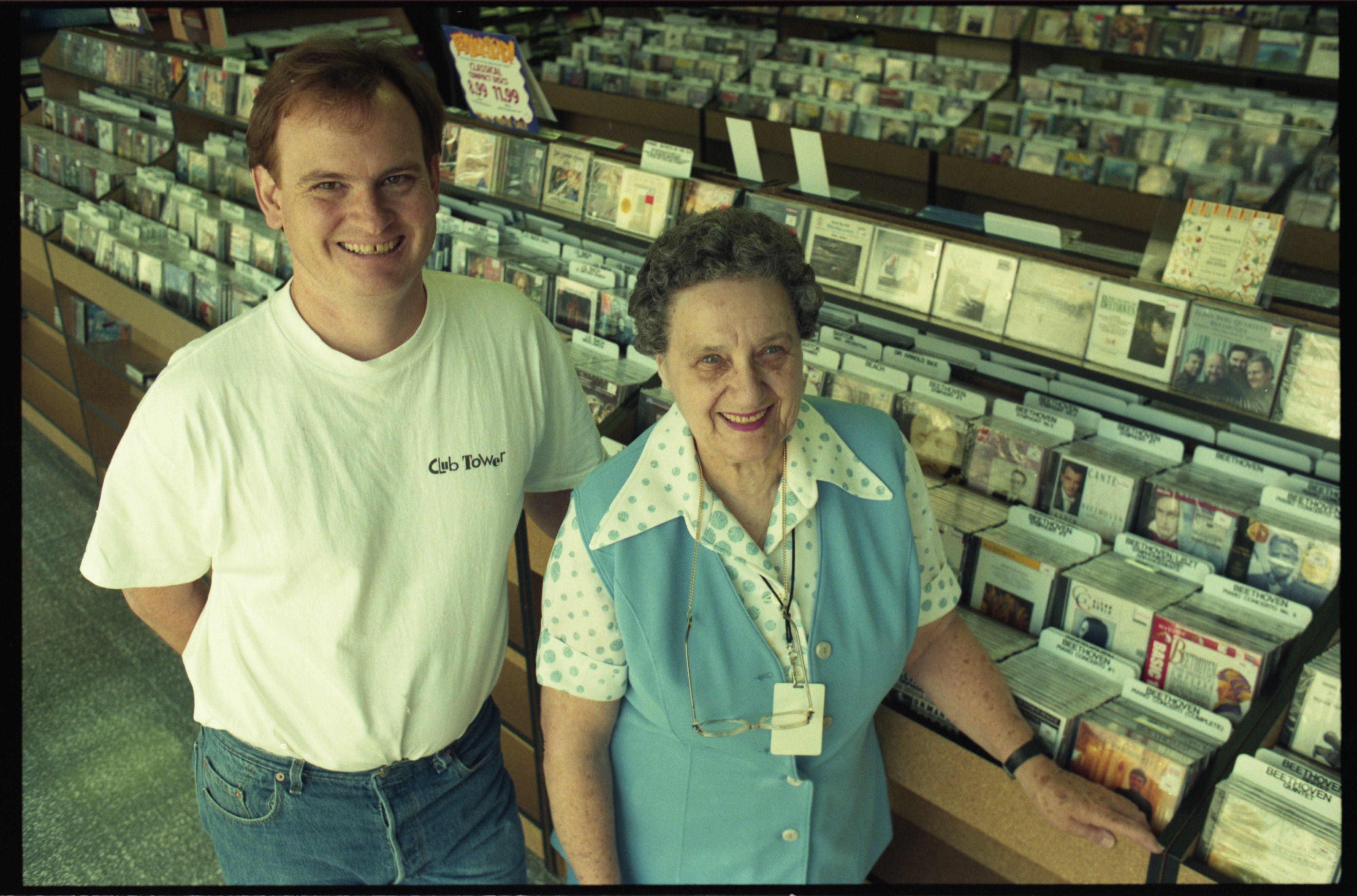 Tom Rule & Millie Wrightman - Tower Records, September 1994 image