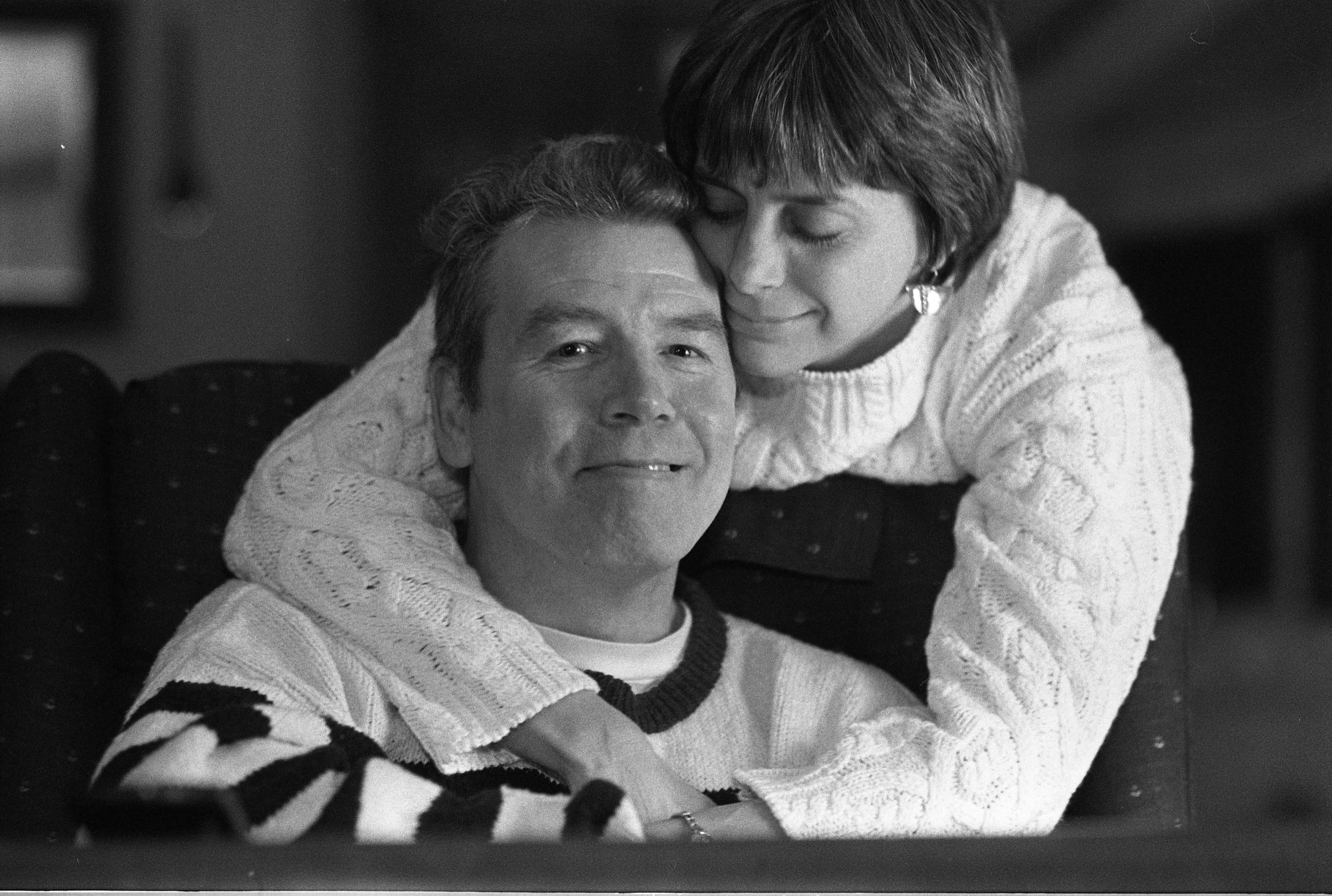 Ann Arbor Reporter, Owen Eshenroder, After Debilitating Stroke With Wife Deborah, January 29, 1995 image