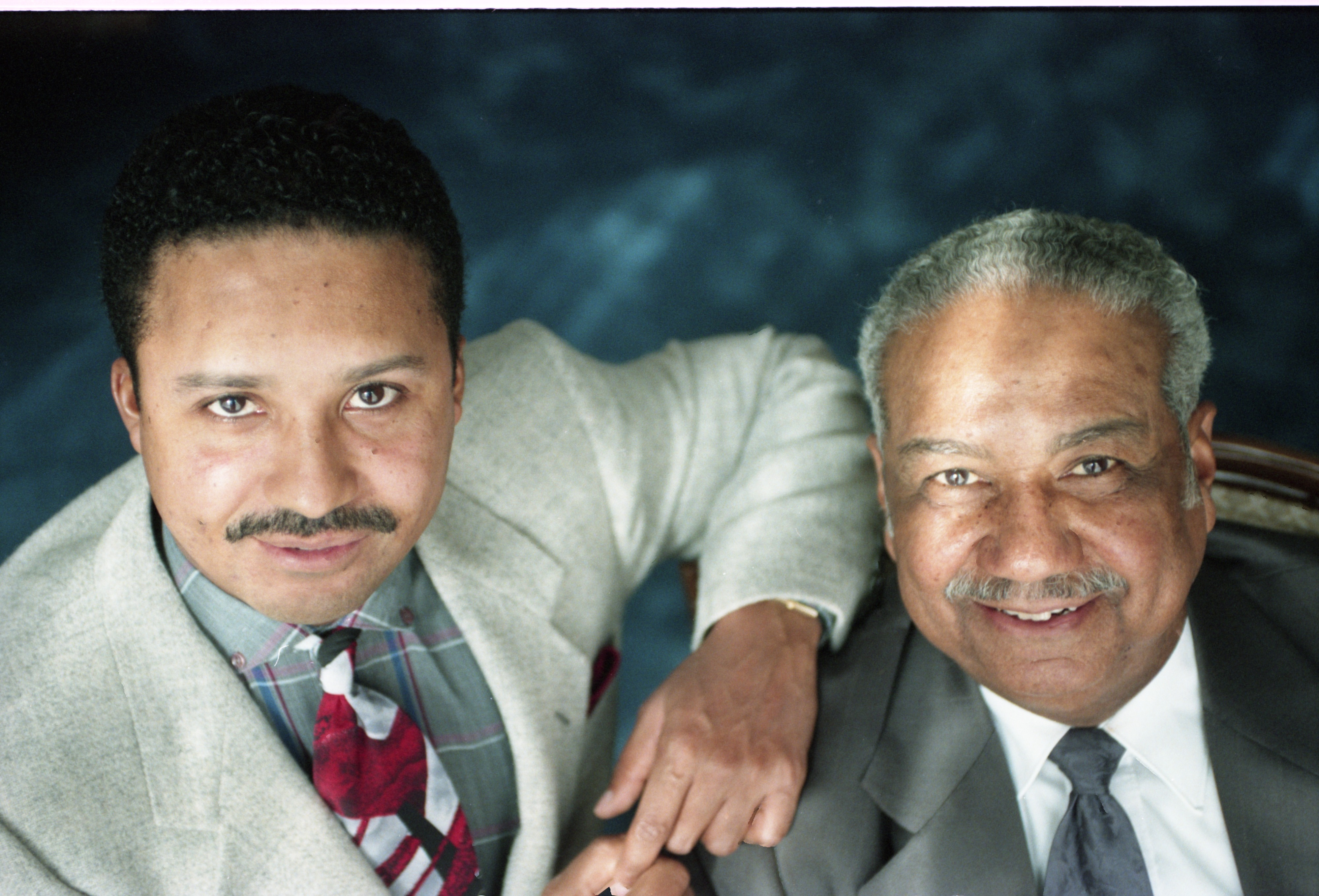Dr. John C. Shelton, Noted Ypsilanti Doctor, With His Son, Dr. Craig Shelton, February 6, 1995 image