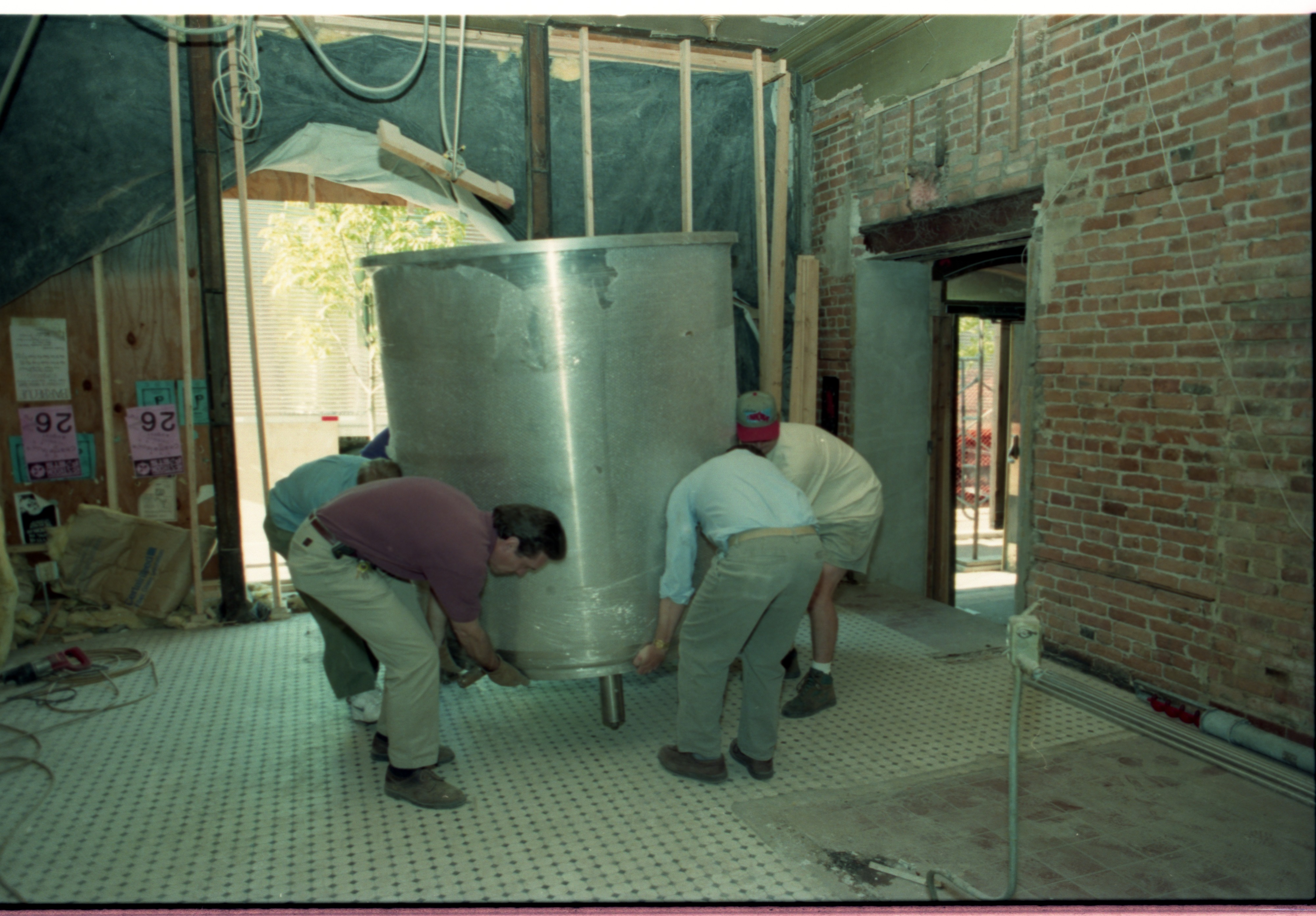 Image from Brewing Equipment Delivered To Grizzly Peak Brewing Company, May 1995