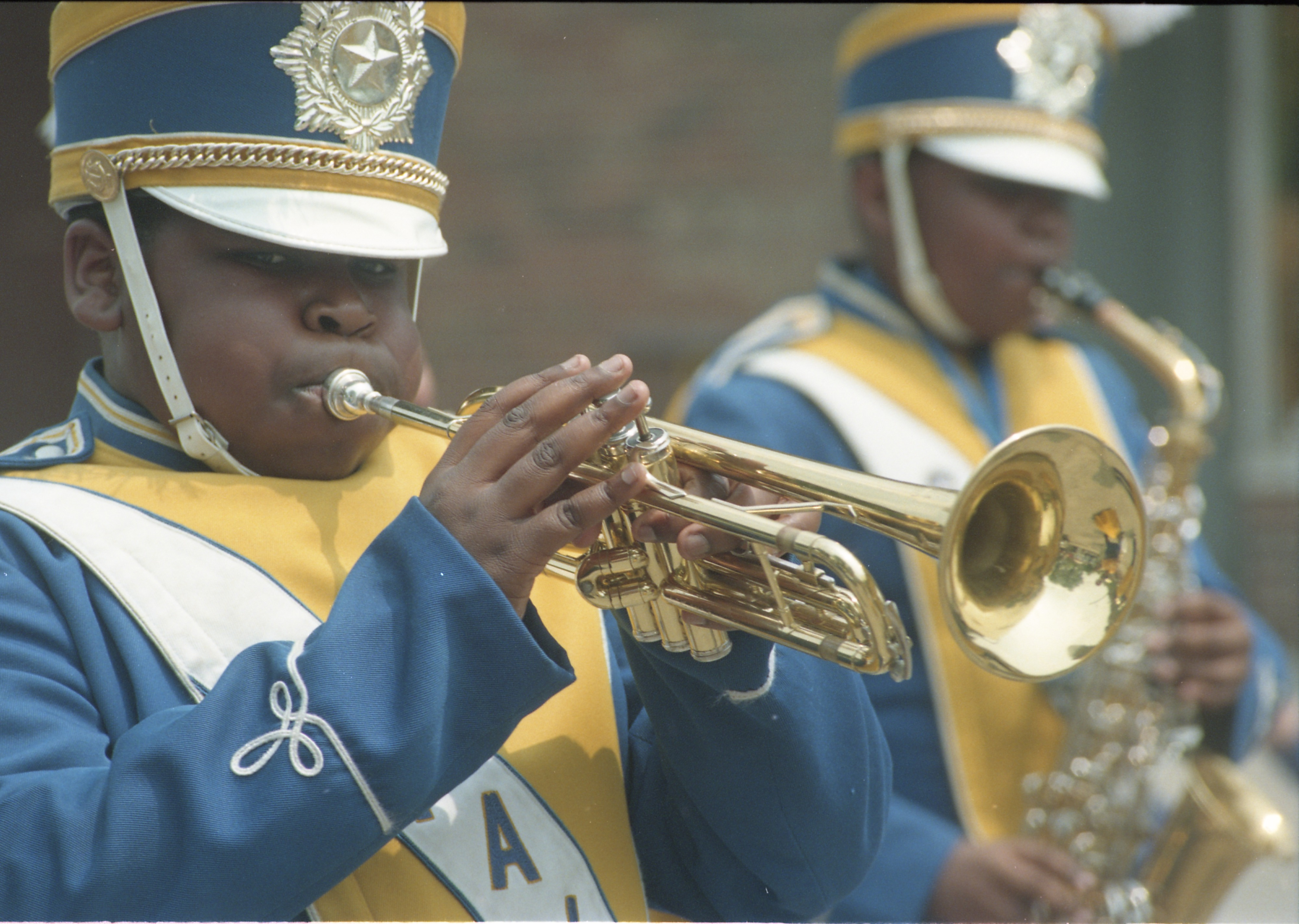 Trumpeter In Marching Band At The Royal Hanneford Circus Parade, June 23, 1995 image