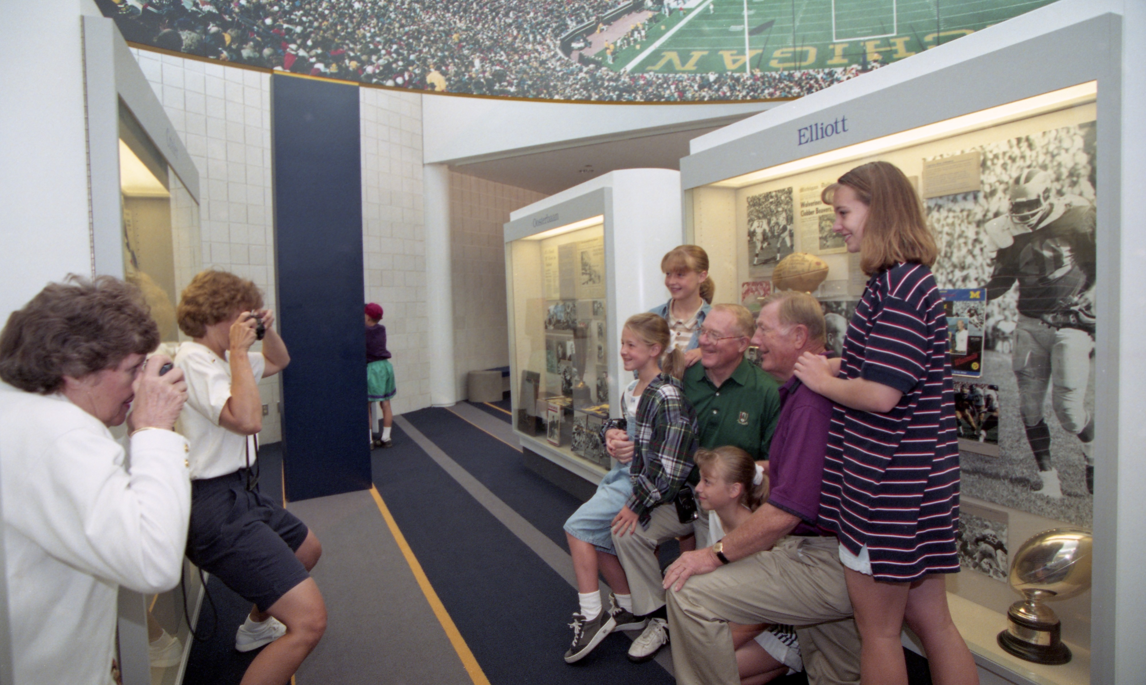 The Families Of Pete & Bump Elliott Visit Schembechler Hall, July 1995 image