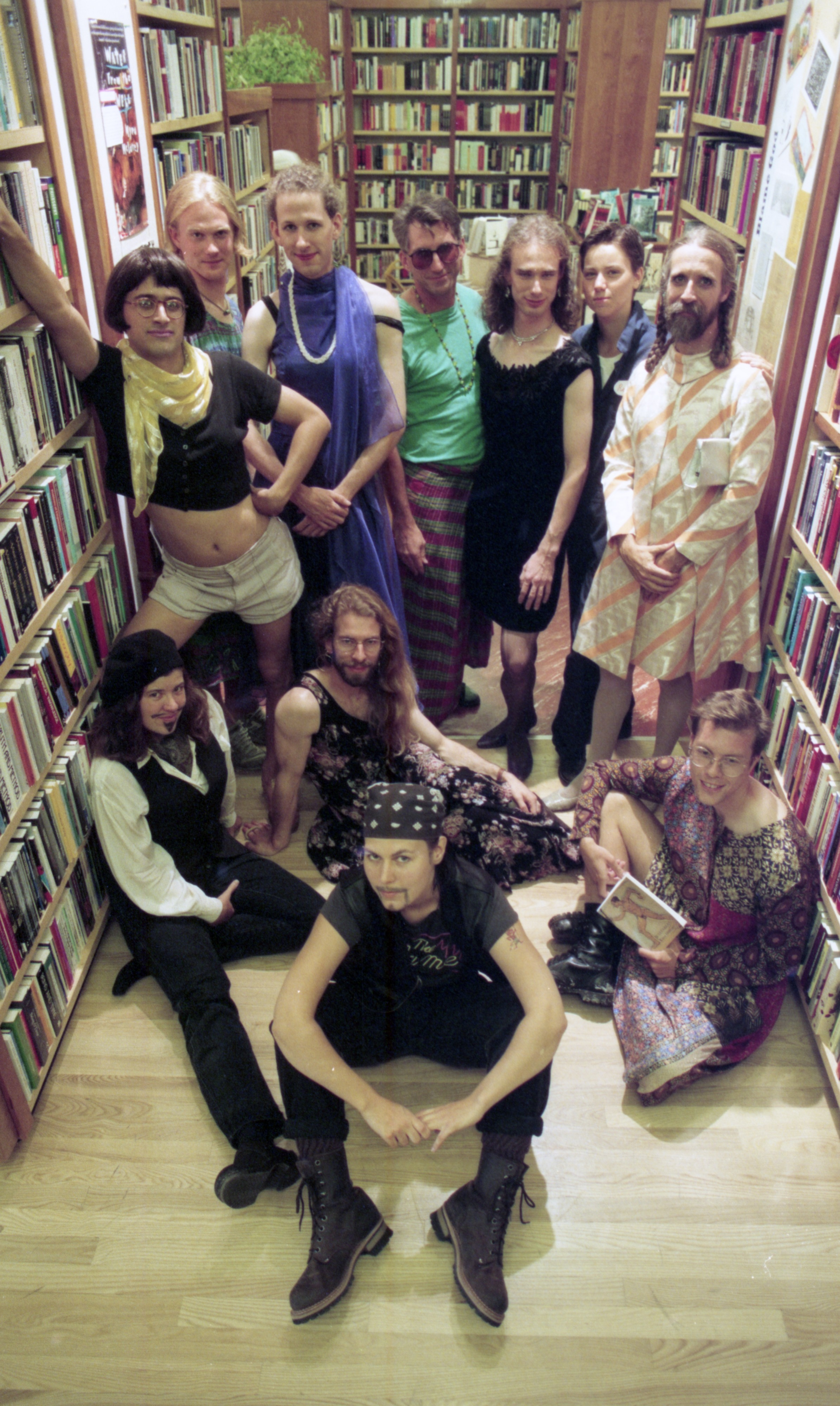 Employees Of Shaman Drum Bookshop Cross-Dress For A Day, September 1995 image