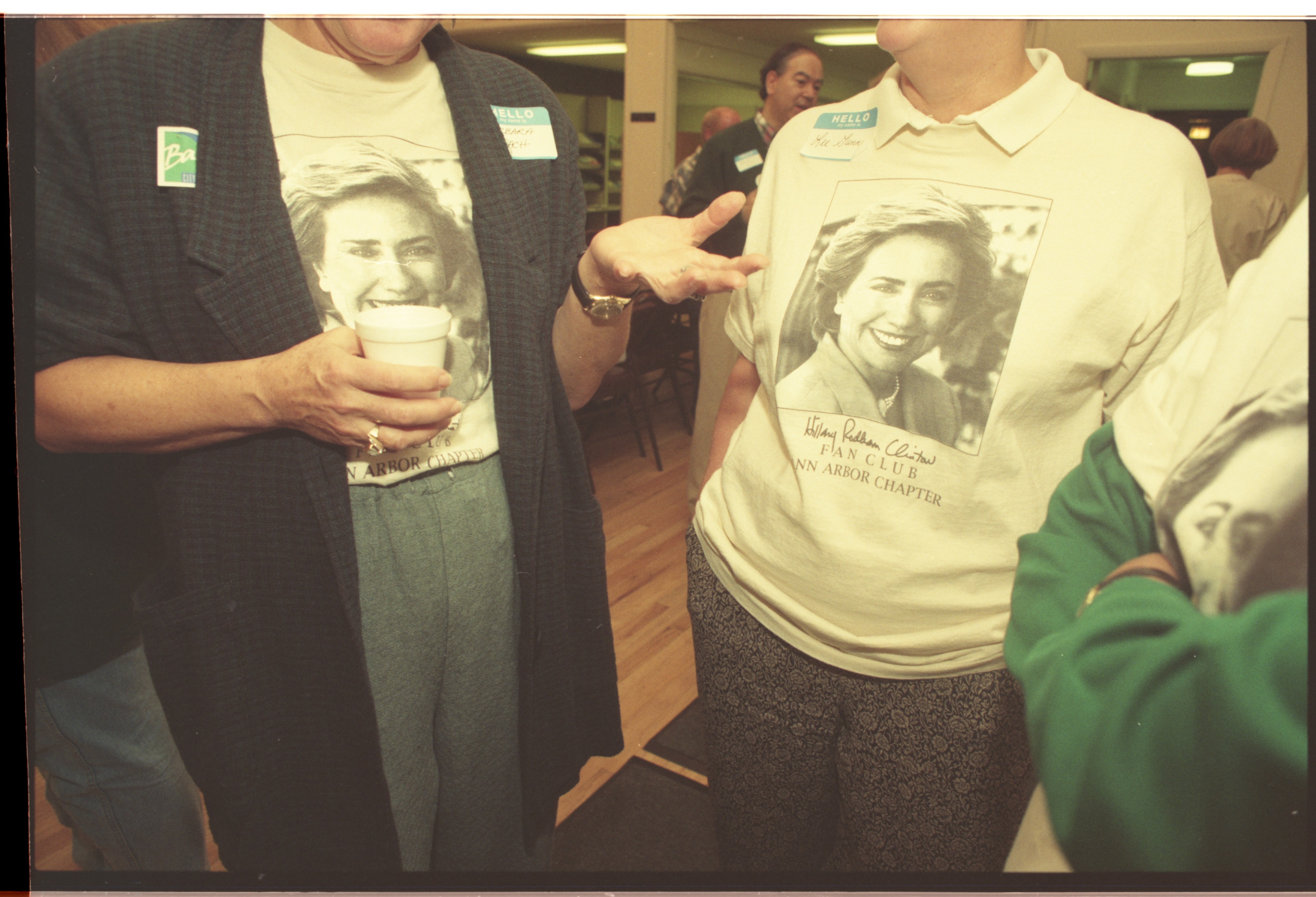 Hillary Rodham Clinton Fan Club - Ann Arbor Chapter, October 1995 image