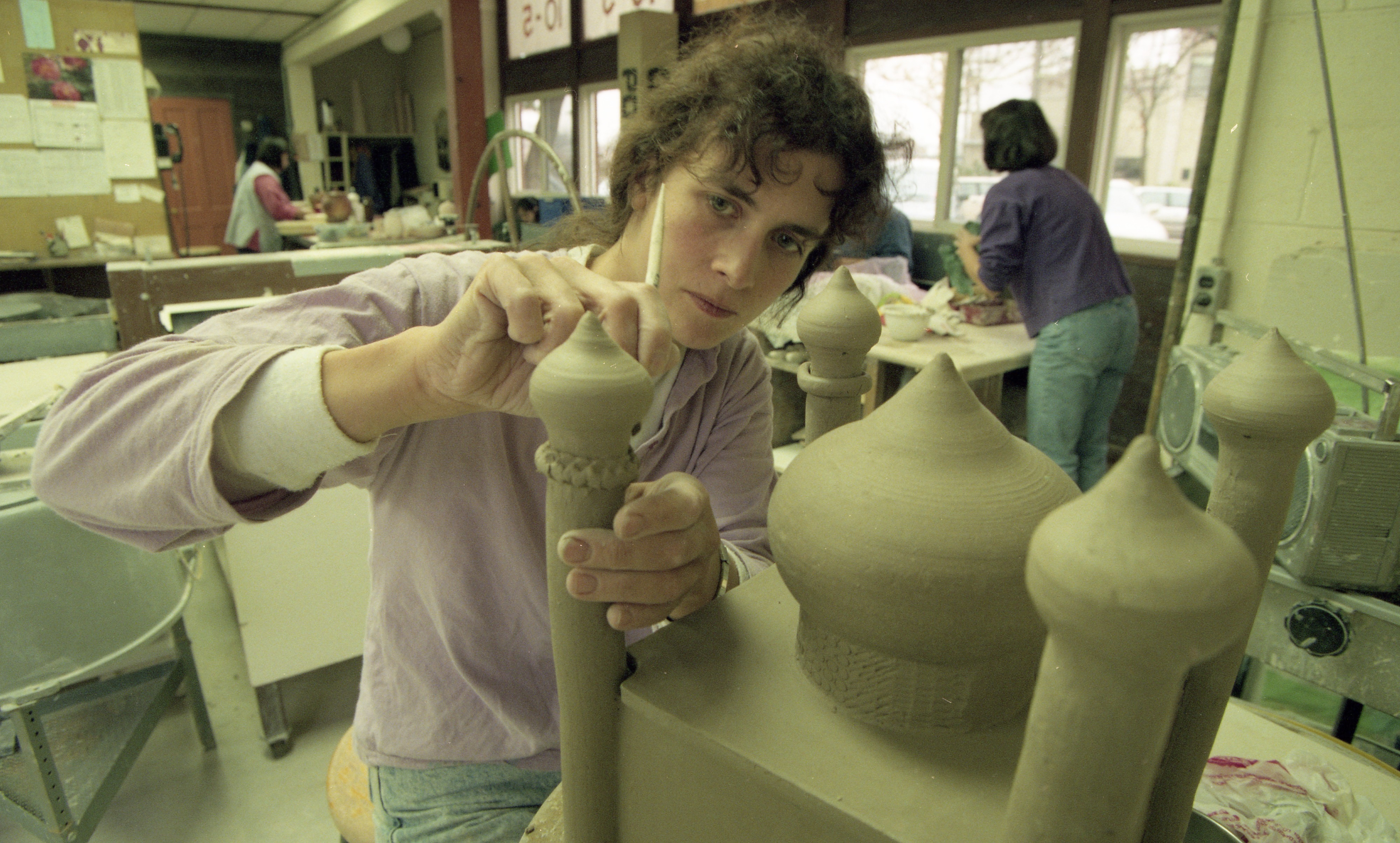 Astrid Hillers Creates A Mosque At The Potters Guild, November 1995 image