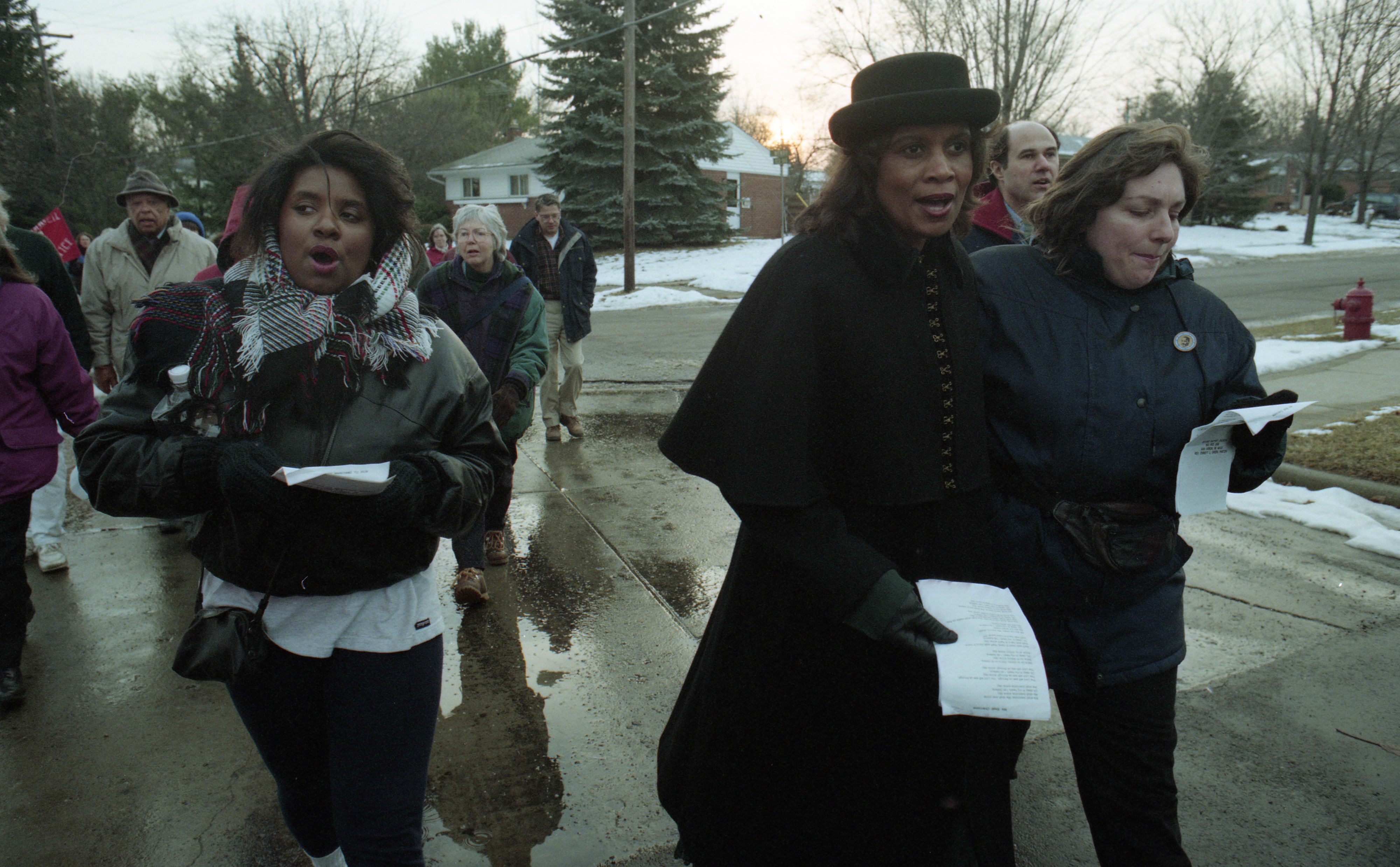 Second Baptist Church Sponsors Annual Unity March To Honor Dr. Martin Luther King Jr., January 1996 image
