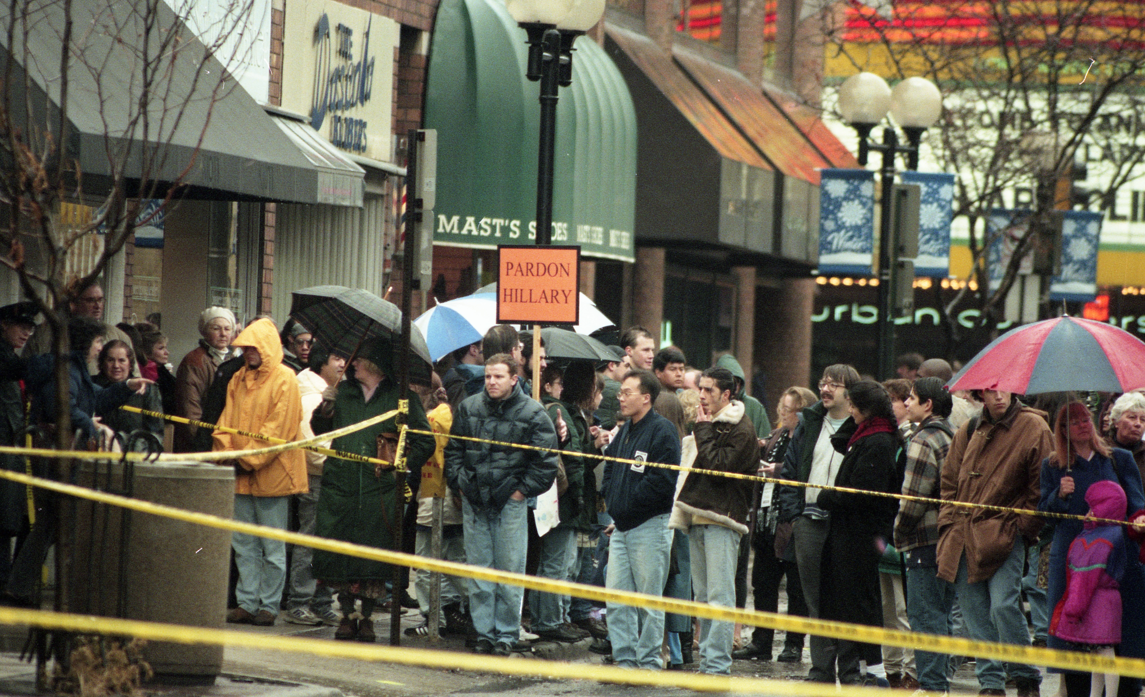 Long Lines Outside Borders For Hillary Clinton Book Signing, January 1996 image