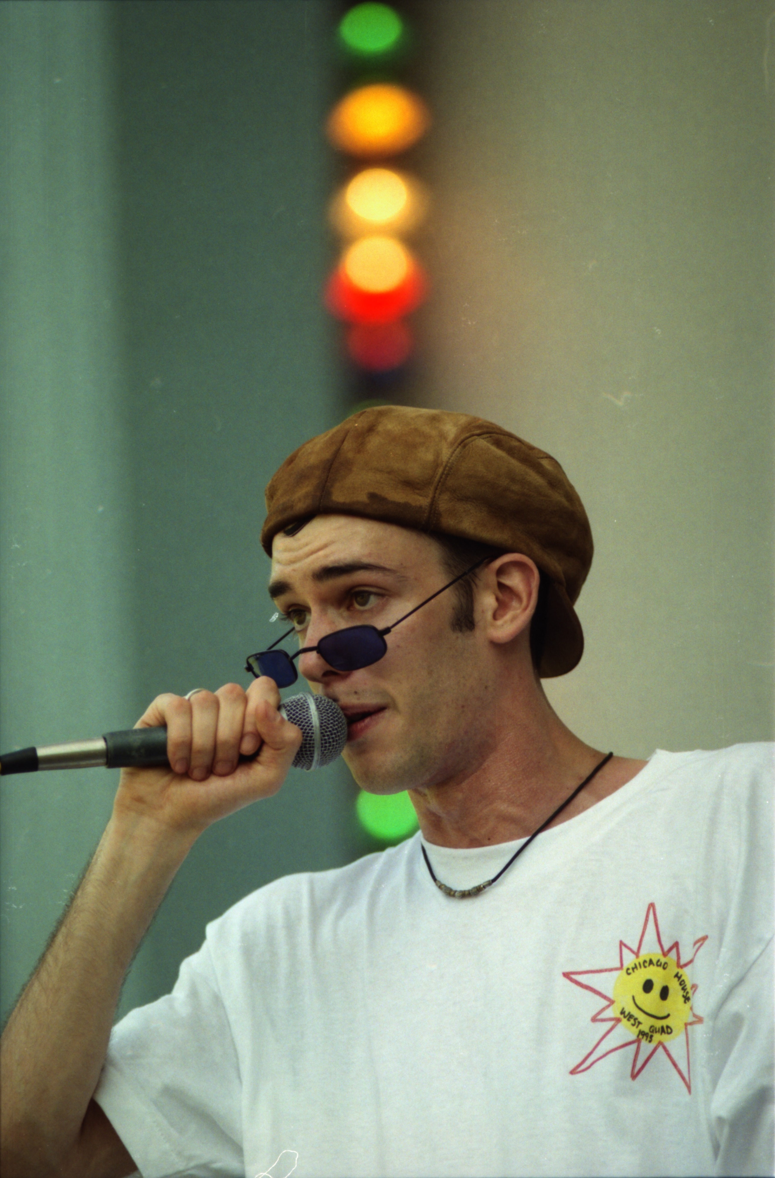 Jon Gore of The Committee, a local hip-hop band, performs at Comstock, West Park, June 13, 1996 image