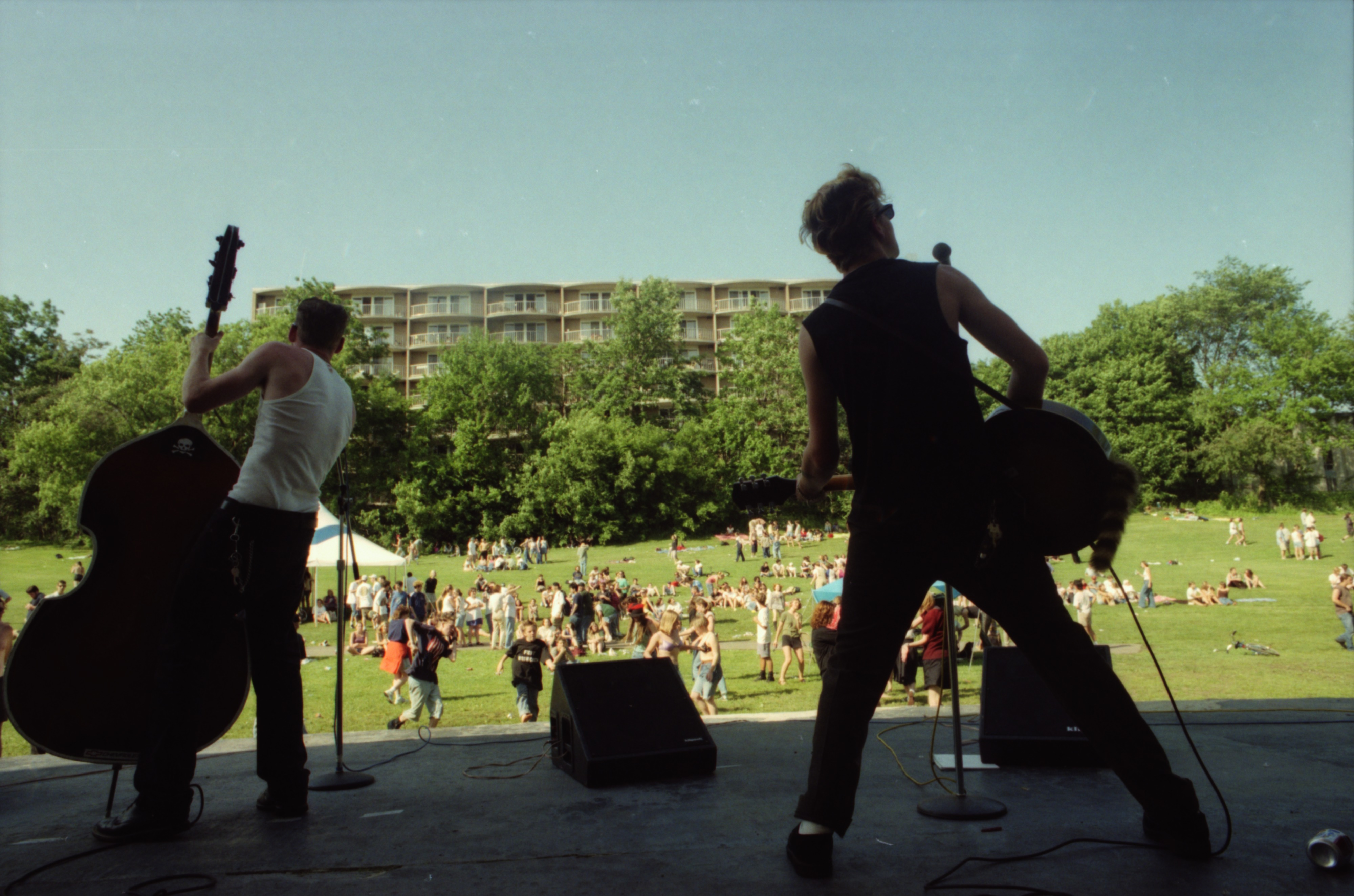 Lucky Haskins performs at Comstock, West Park, June 13, 1996 image