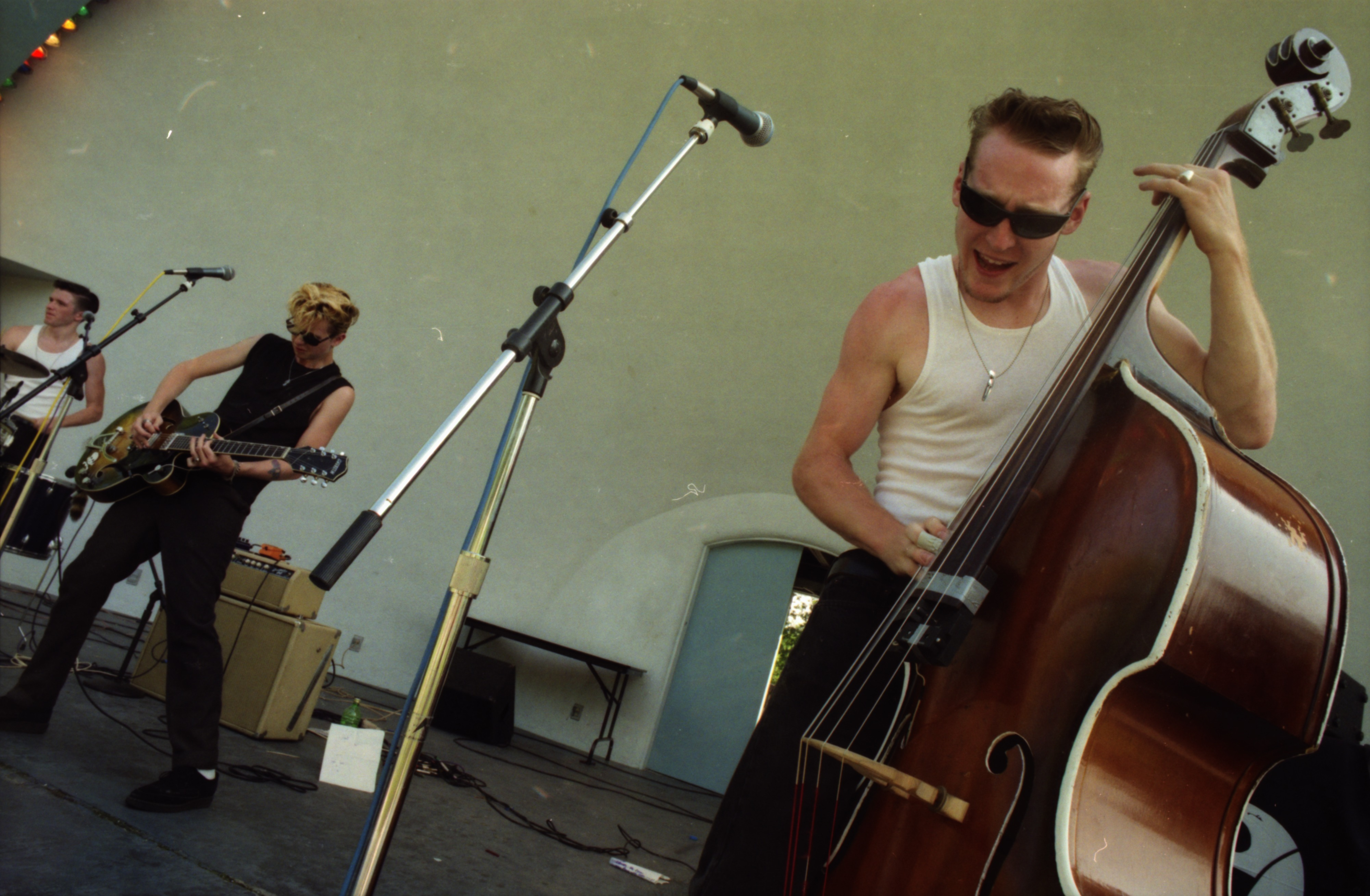Rob Ramsburg performs with Lucky Haskins performs at Comstock, West Park, June 13, 1996 image