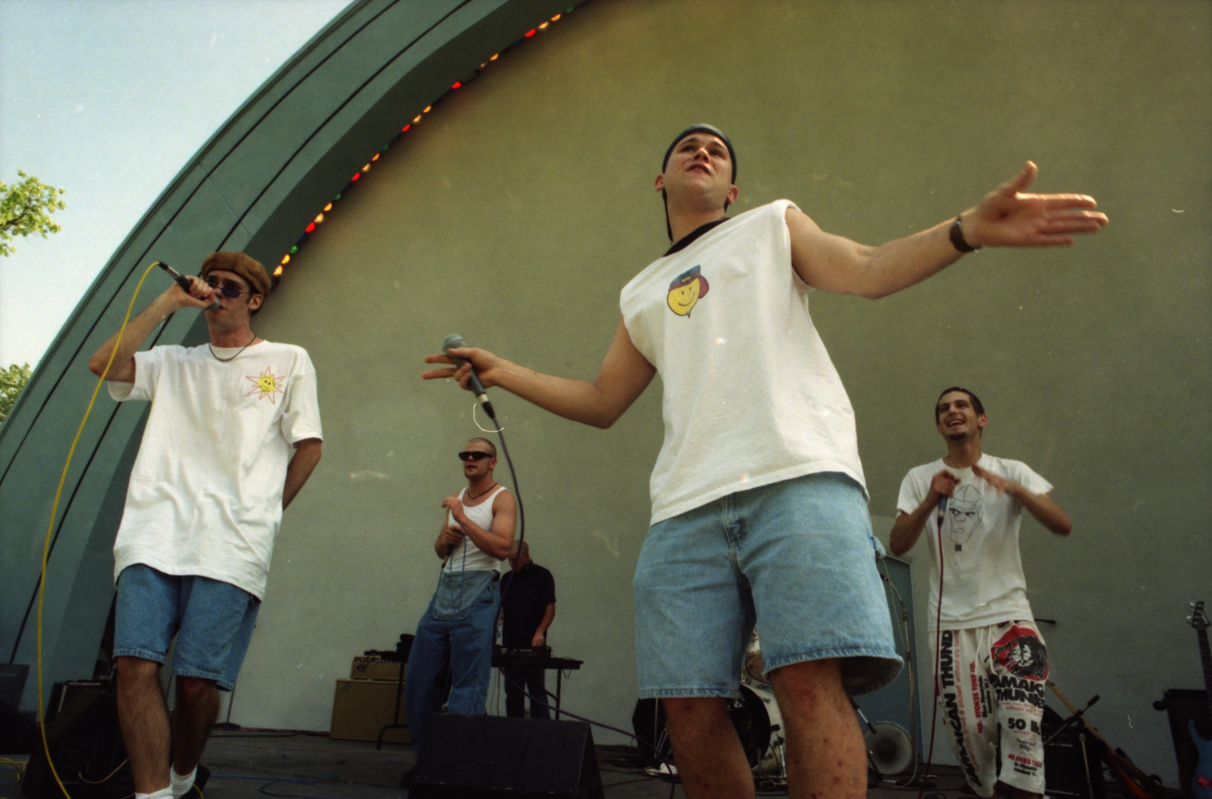 The Committee, a local hip-hop band, performs at Comstock, West Park, June 13,1996 image
