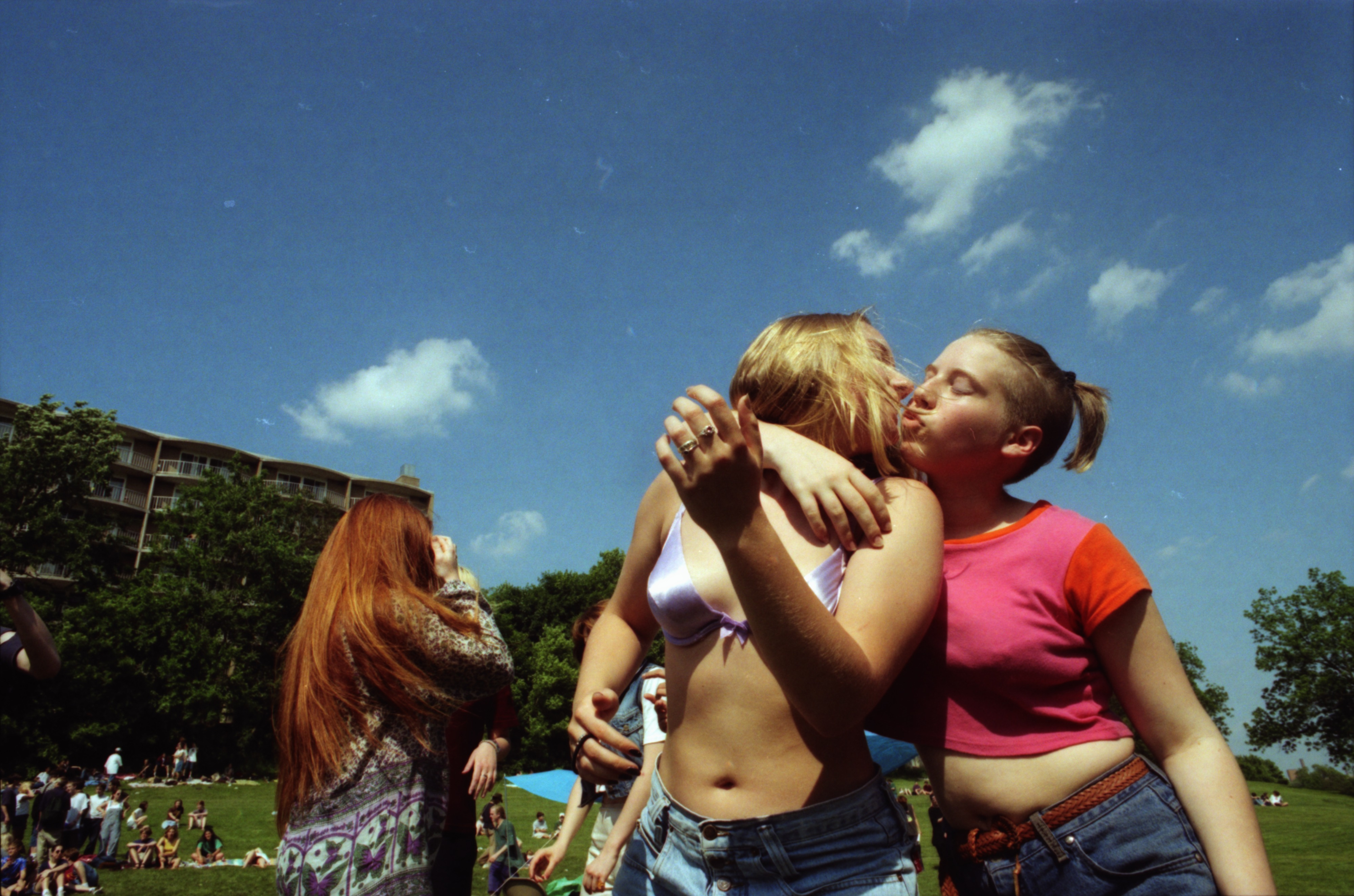 Community High School students celebrate at Comstock, West Park, June 13, 1996 image