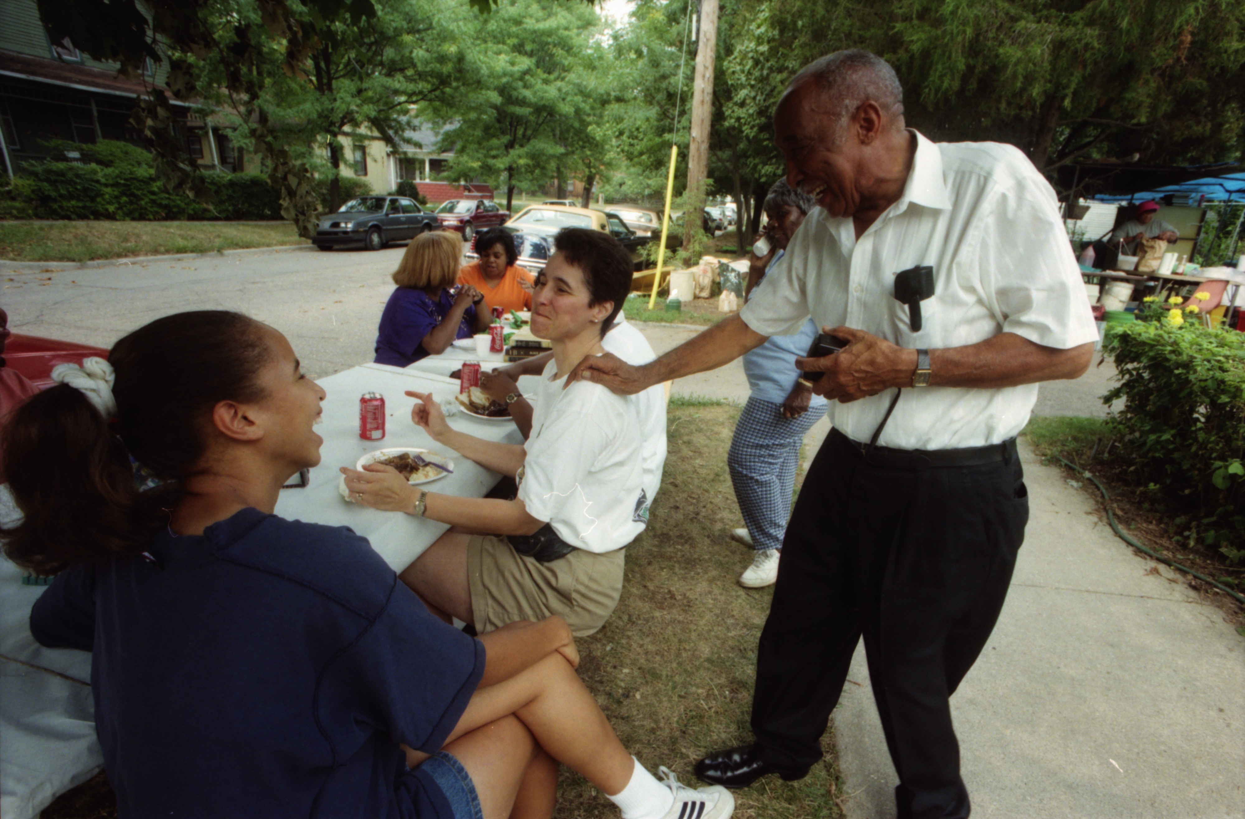 Guests Enjoy Labor Day Barbecue at the Seeley's, September 2, 1996 image