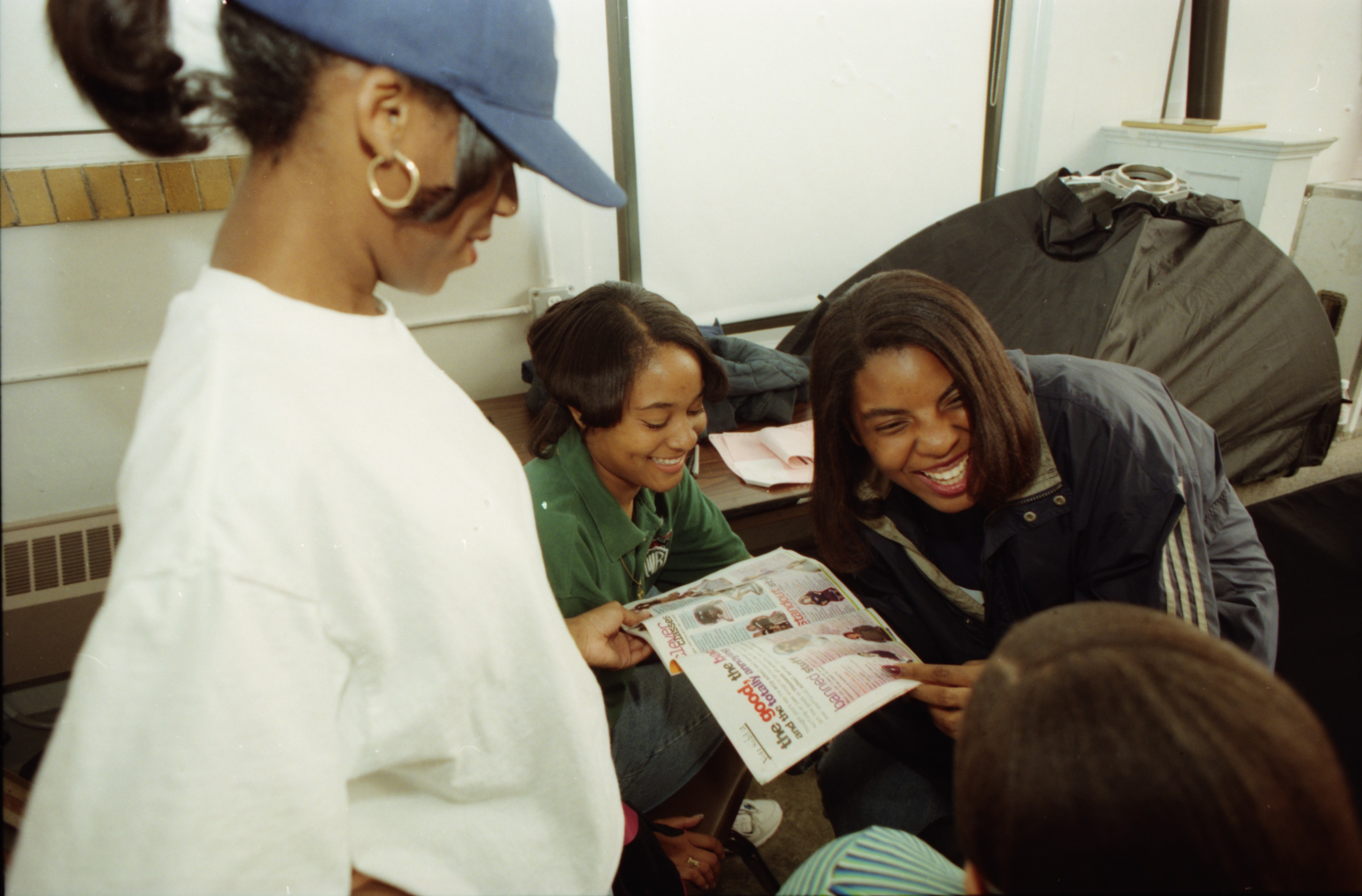 Community High Students Look Through Seventeen Magazine, September 1996 image