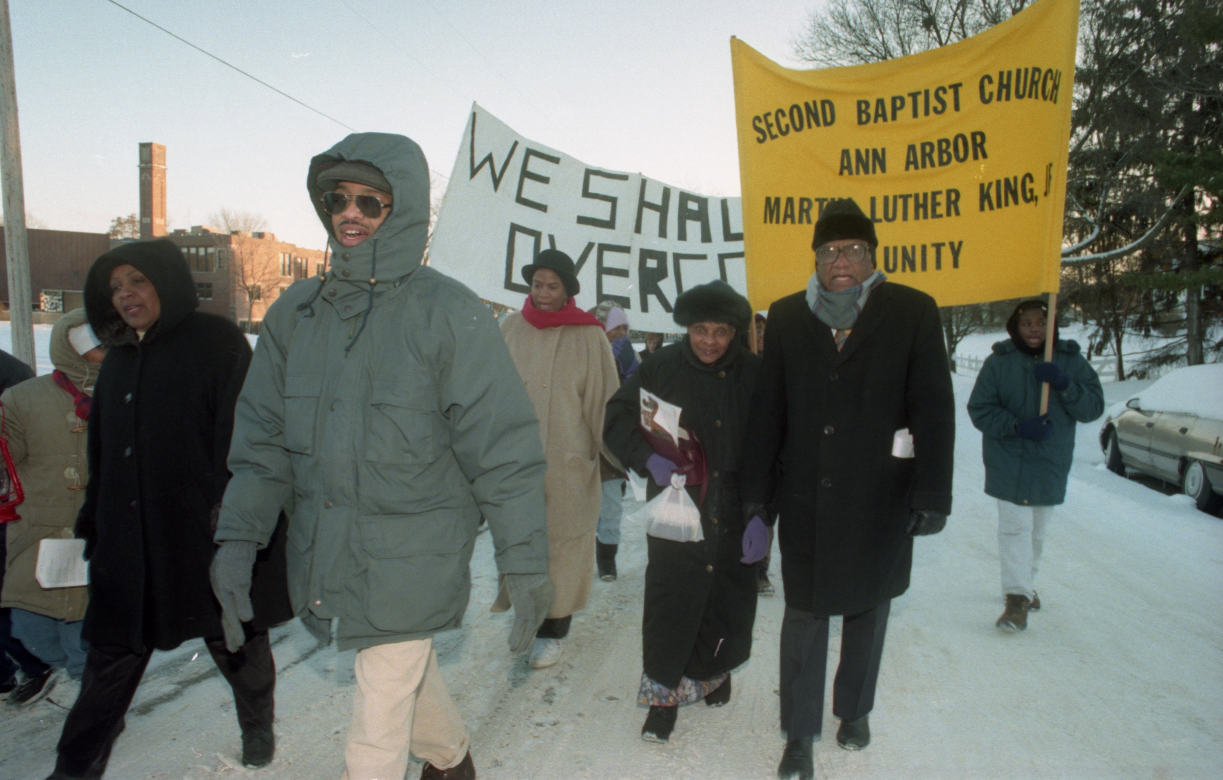 Second Baptist Church Sponsors Annual Unity March To Honor Dr. Martin Luther King Jr., January 1997 image