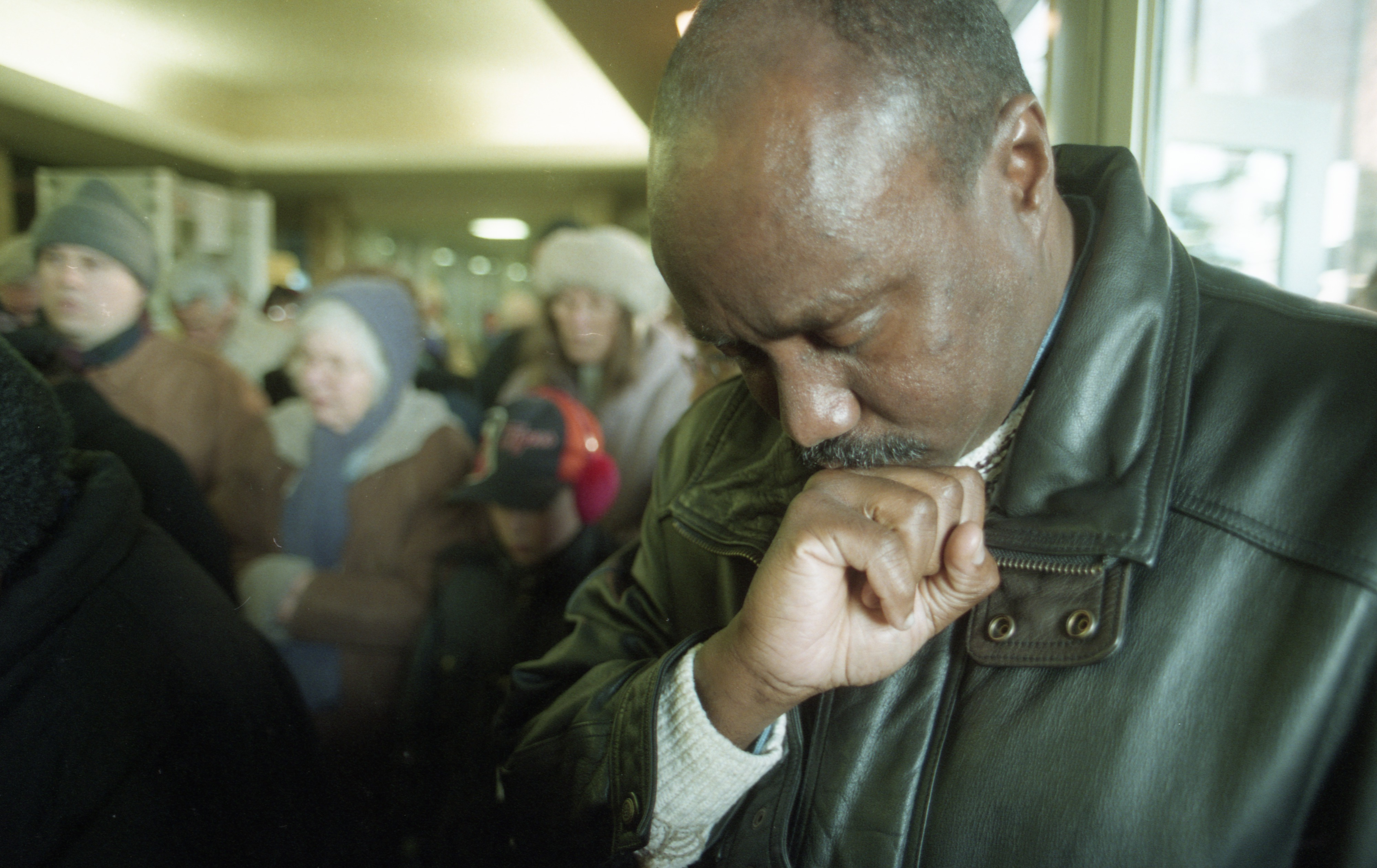 Willie Thomas of Second Baptist Church at Annual Unity March To Honor Dr. Martin Luther King Jr., January 1997 image
