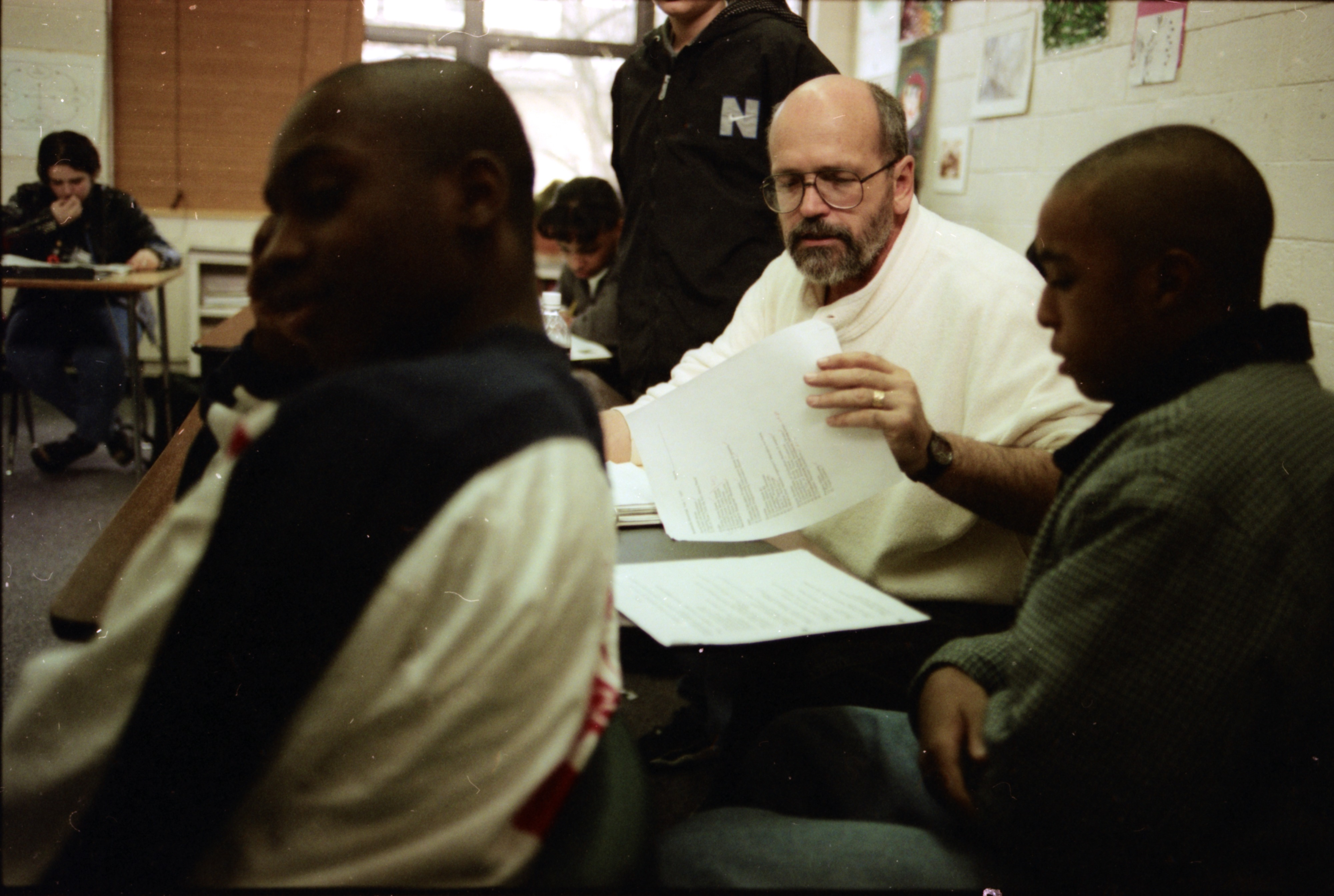 Lead Teacher Rich Ballard at the New School, February 1997 image