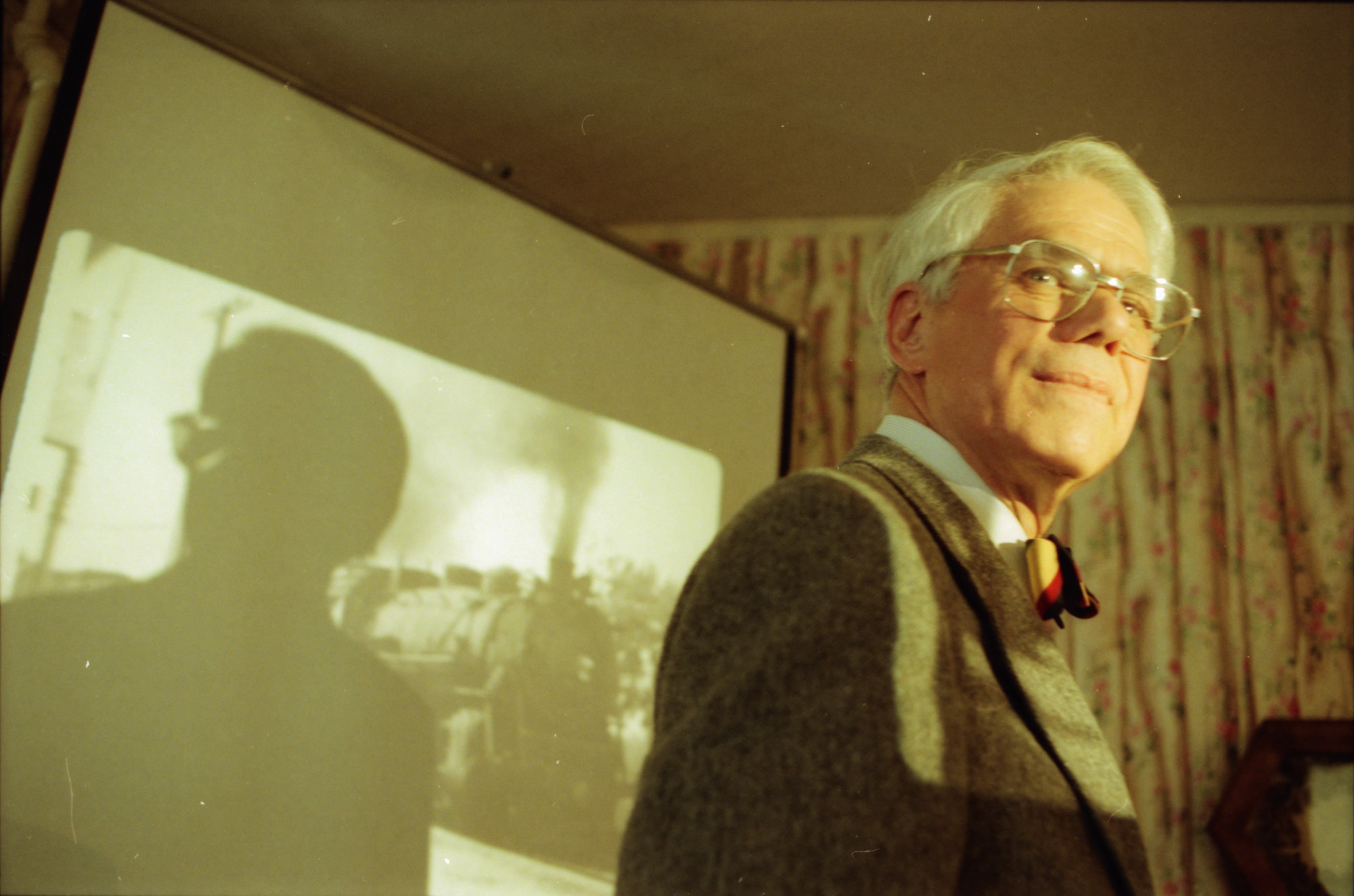 Dr. H. Mark Hildebrandt, Founder of Ann Arbor Train and Trolley Watchers, April 1997 image