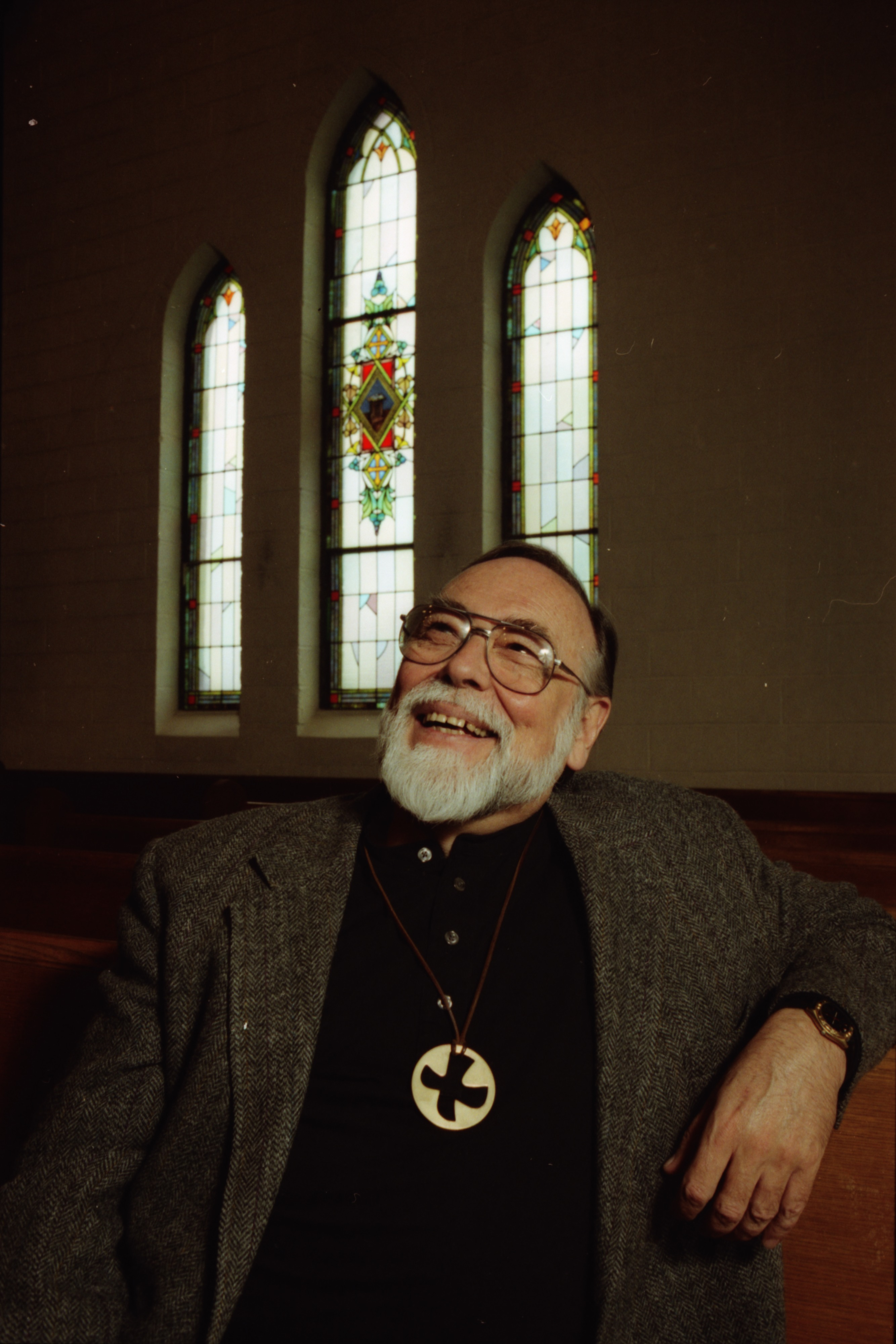 Portrait of Reverend Don Postema, Retiring from Campus Chapel, May 1997 image