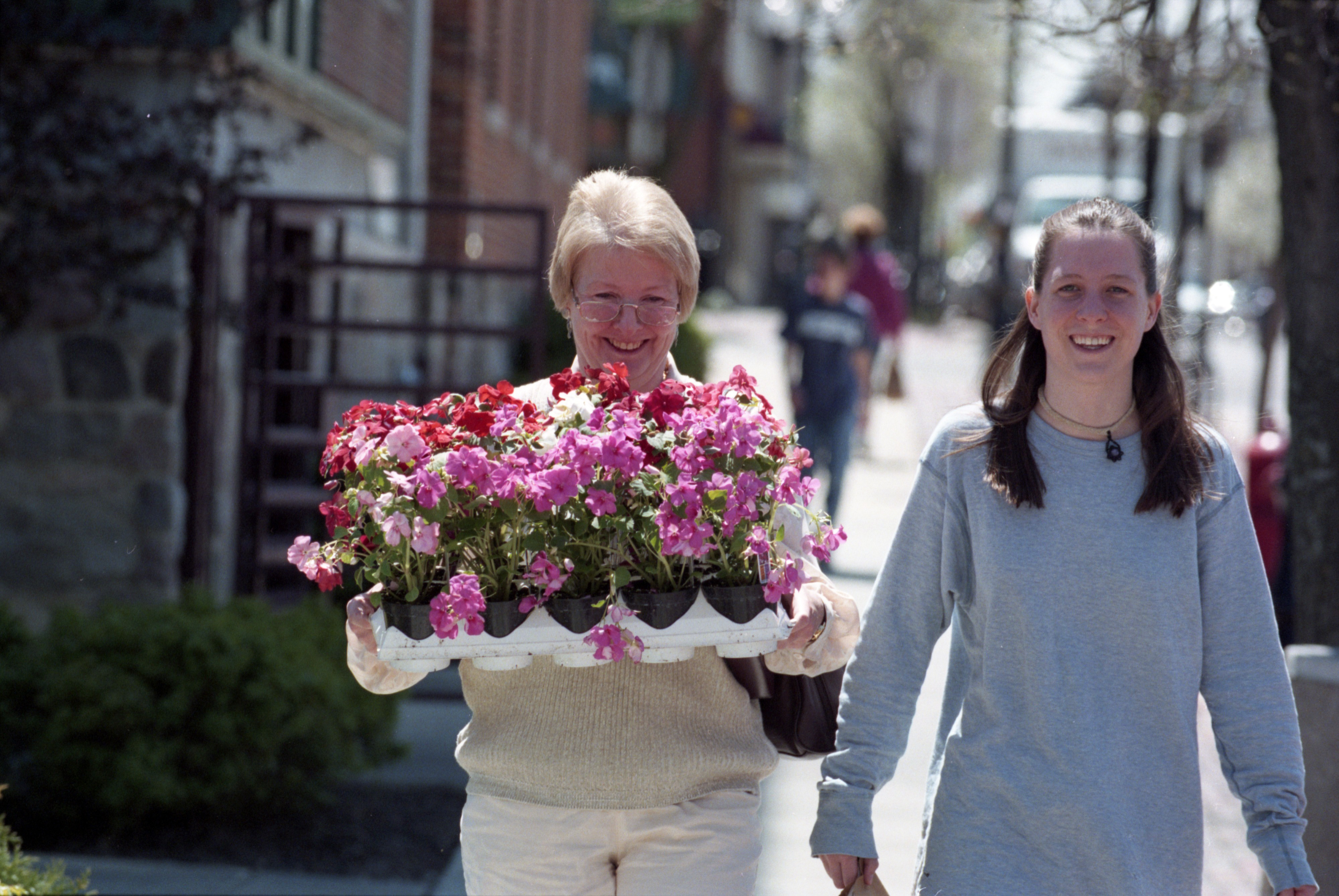 Customers Happy With Flowers Purchased At The Farmer's Market, May 1997 image