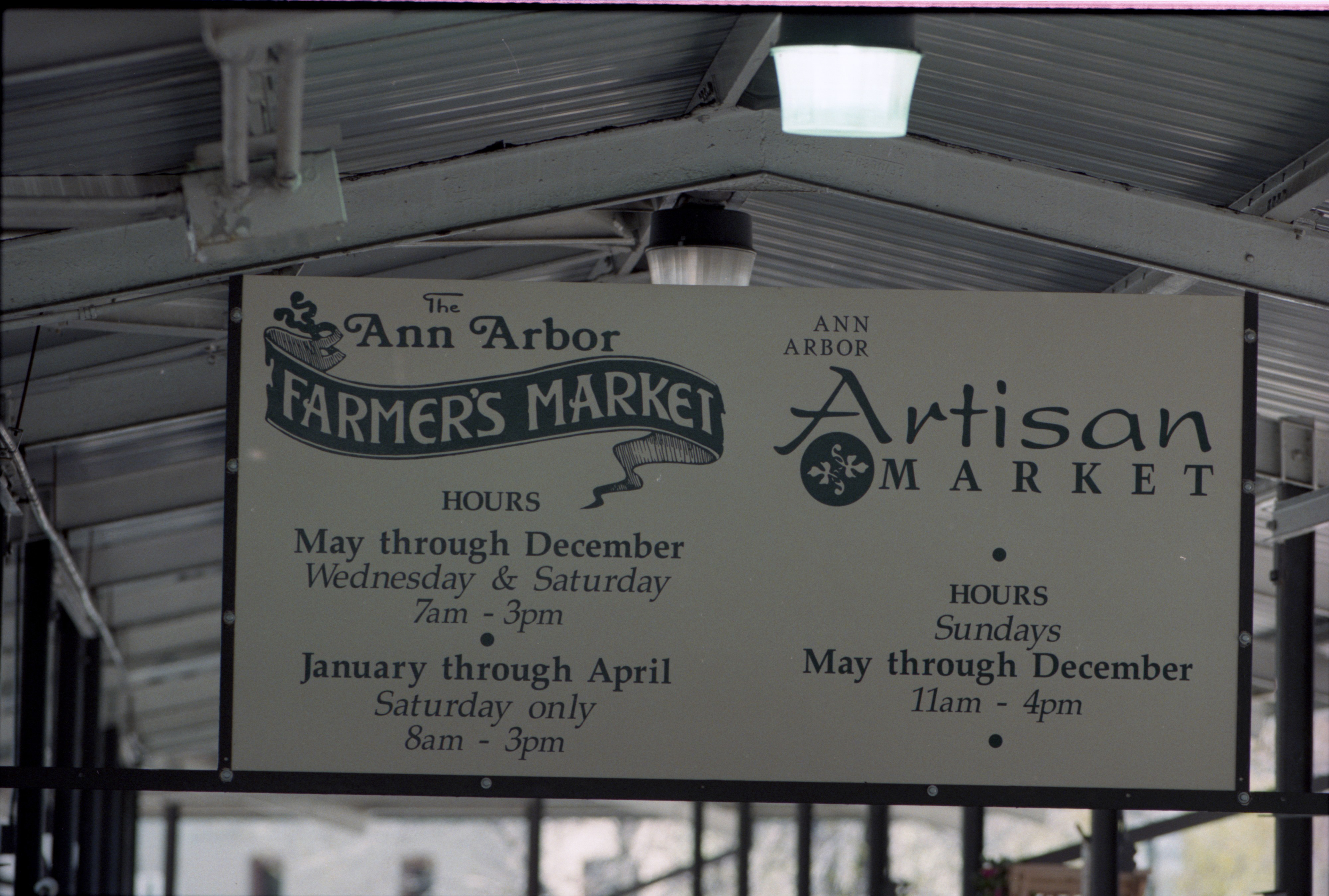 Ann Arbor Farmer's Market Sign, May 1997 image
