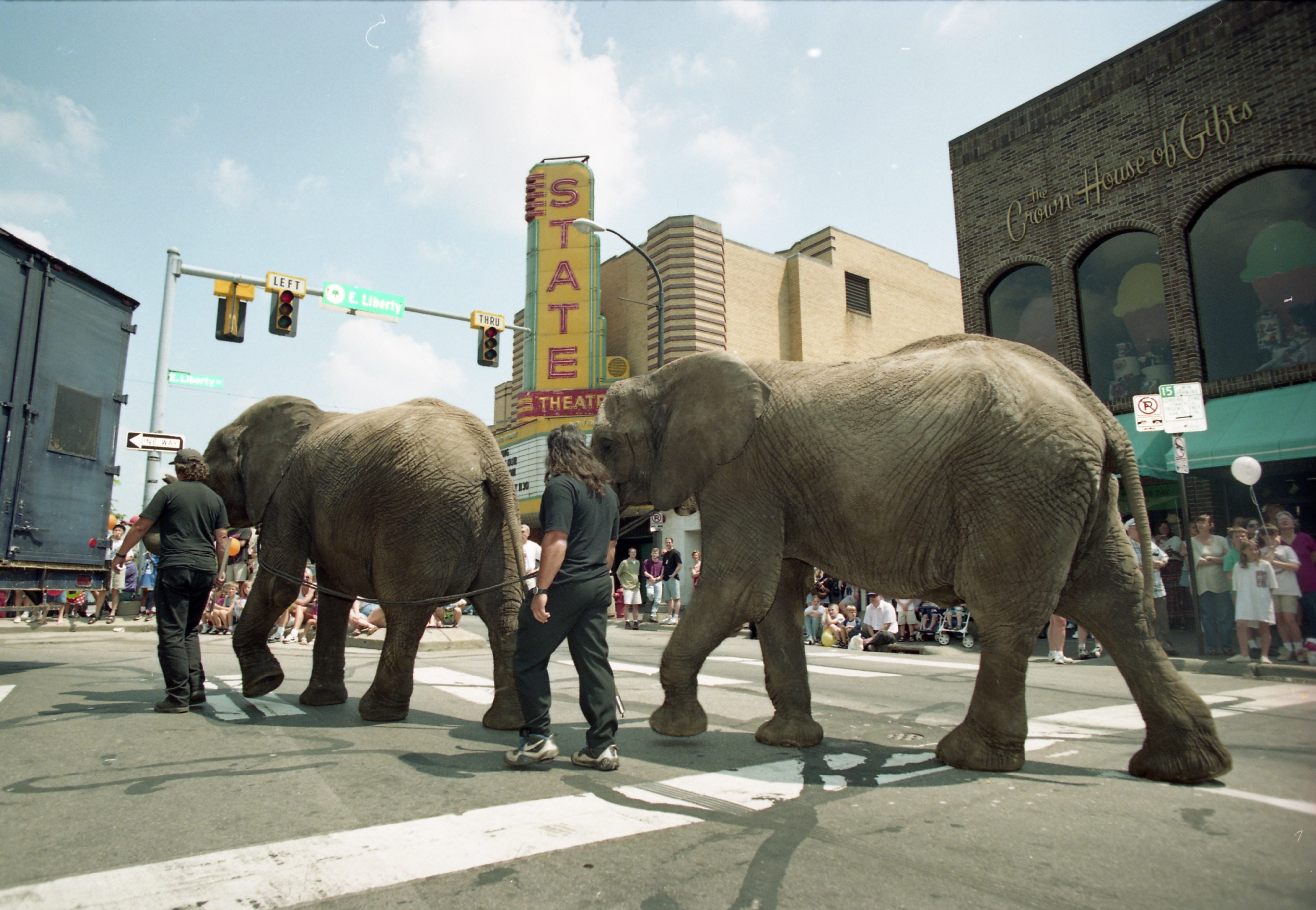 Elephants In The Royal Hanneford Circus Parade March Past Crown House Of Gifts, June 13, 1997 image