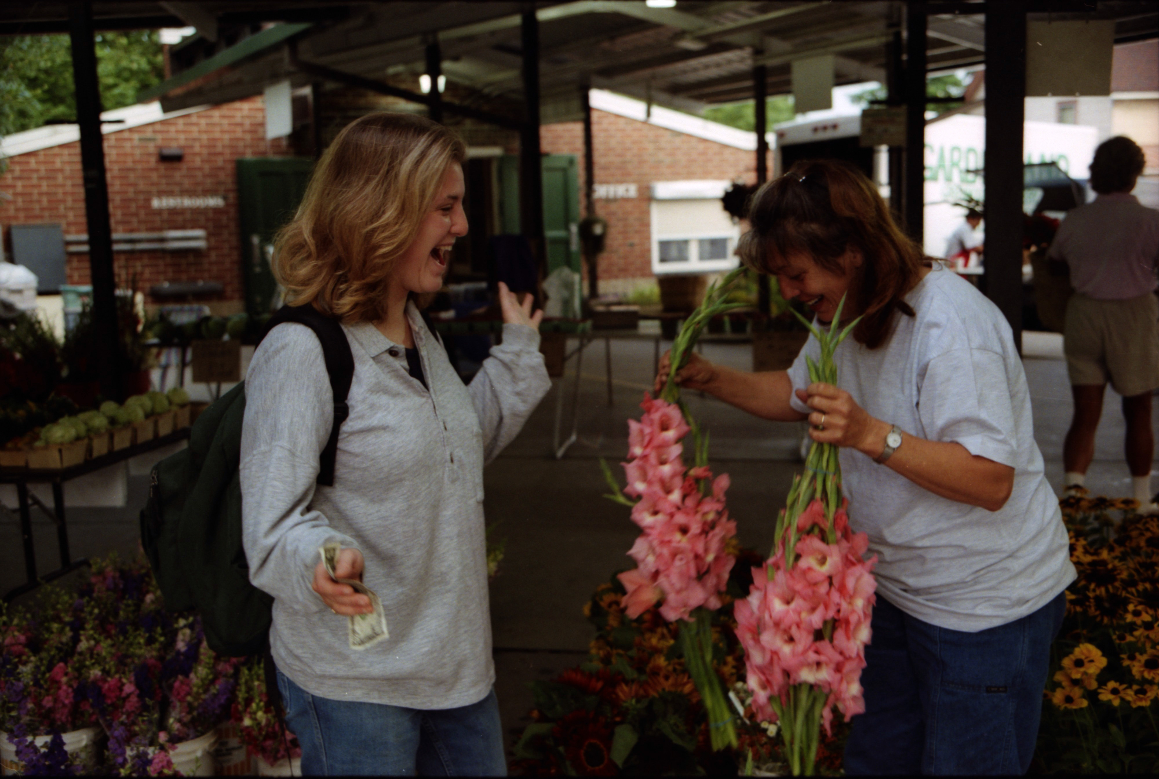 Pat Devulder, Flower Vendor At The Ann Arbor Farmers Market, July 1997 image