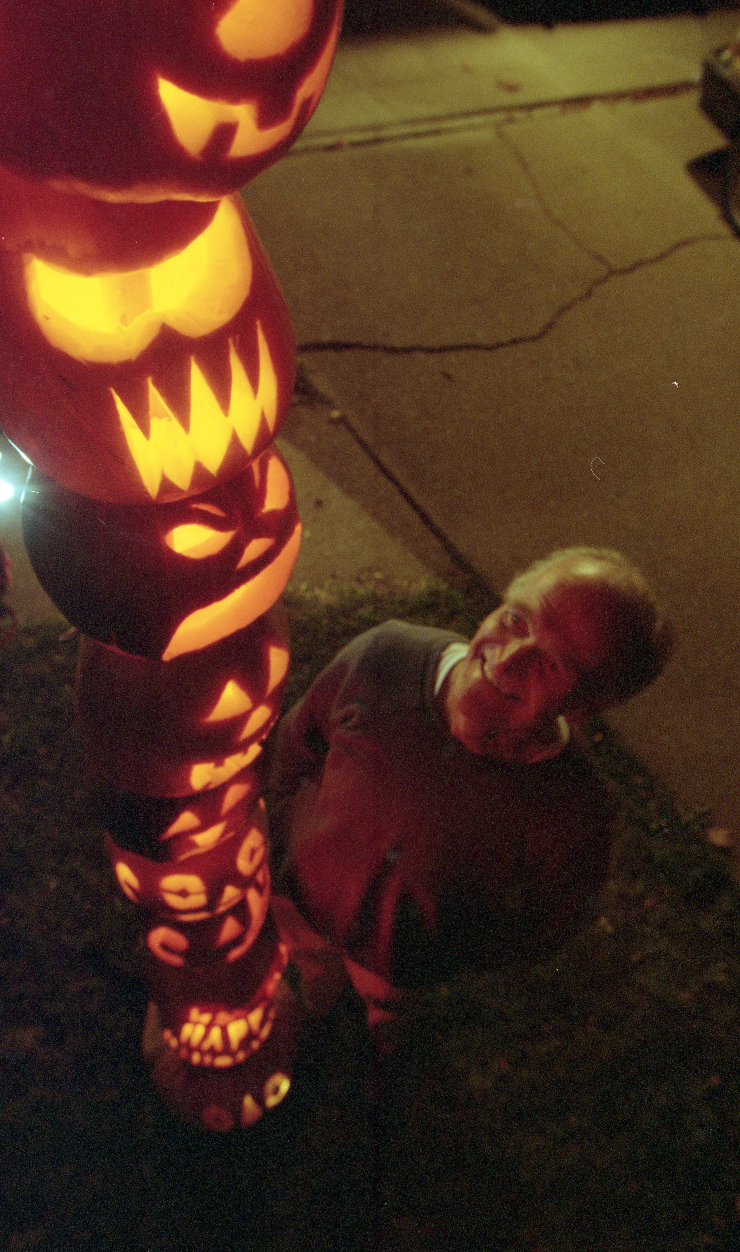 Dan Long And His Pumpkin Pole, October 1997 image