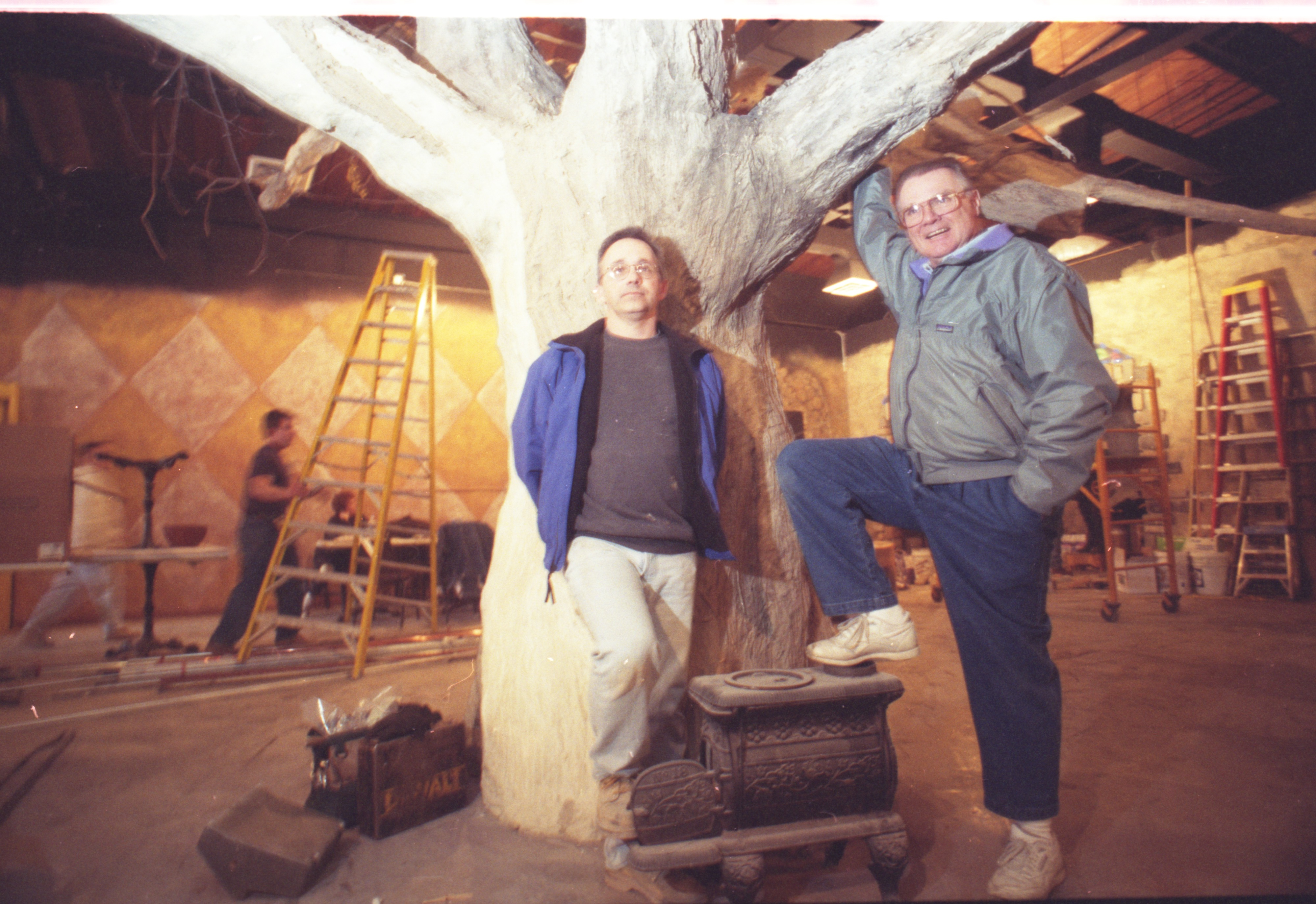 Interior Designer Ray Byers and Owner Dieter Boehm at Arriba Restaurant, May 1998 image