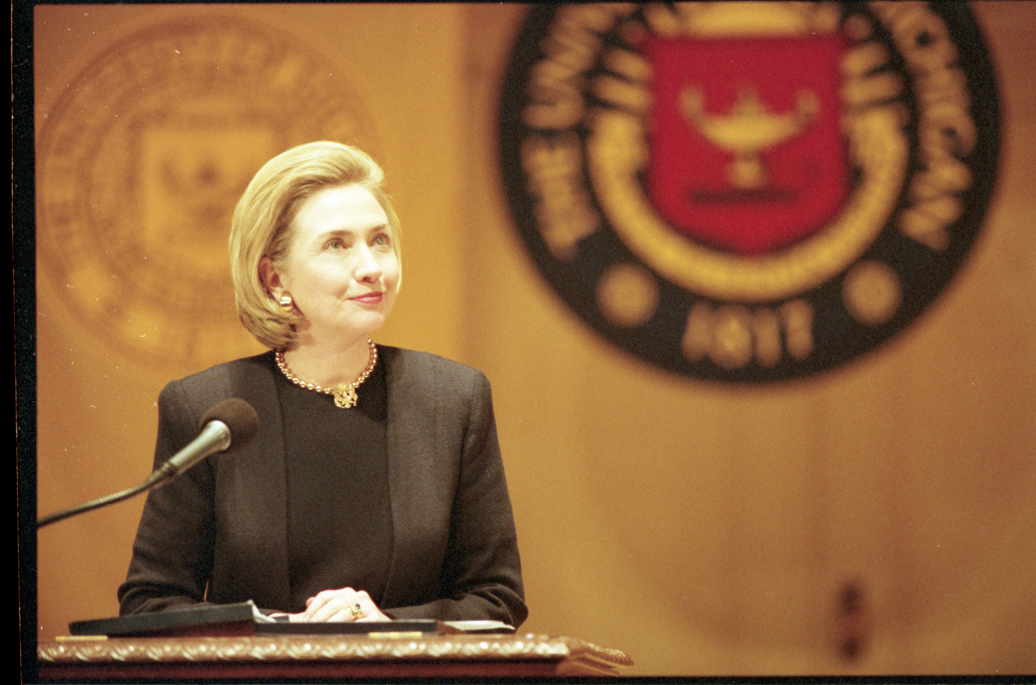 Hillary Clinton Speaks At Hill Auditorium, April 28, 1998 image