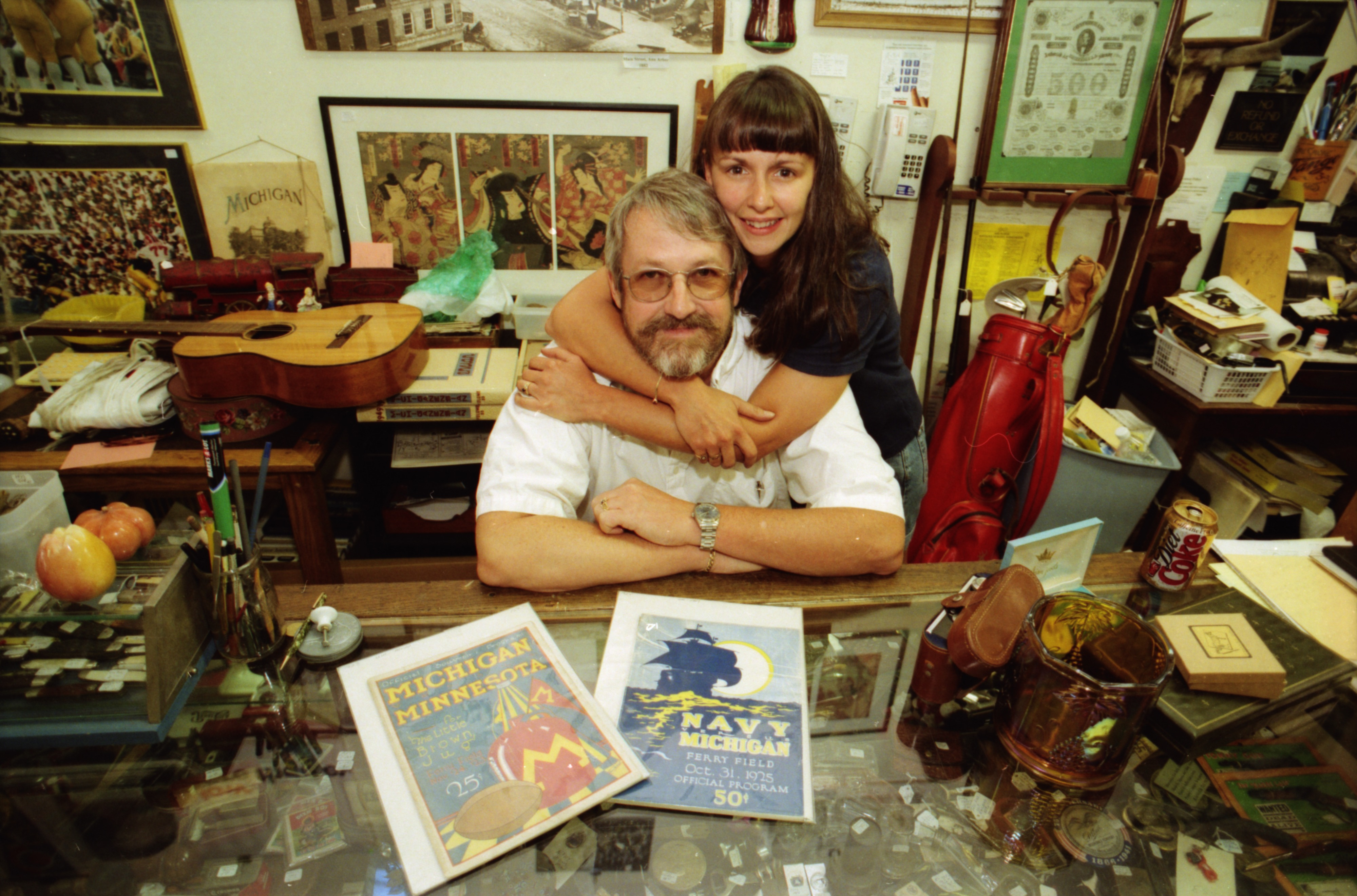 Karl And Amy Lagler Inside Their Antelope Antiques Shop, July 1998 image
