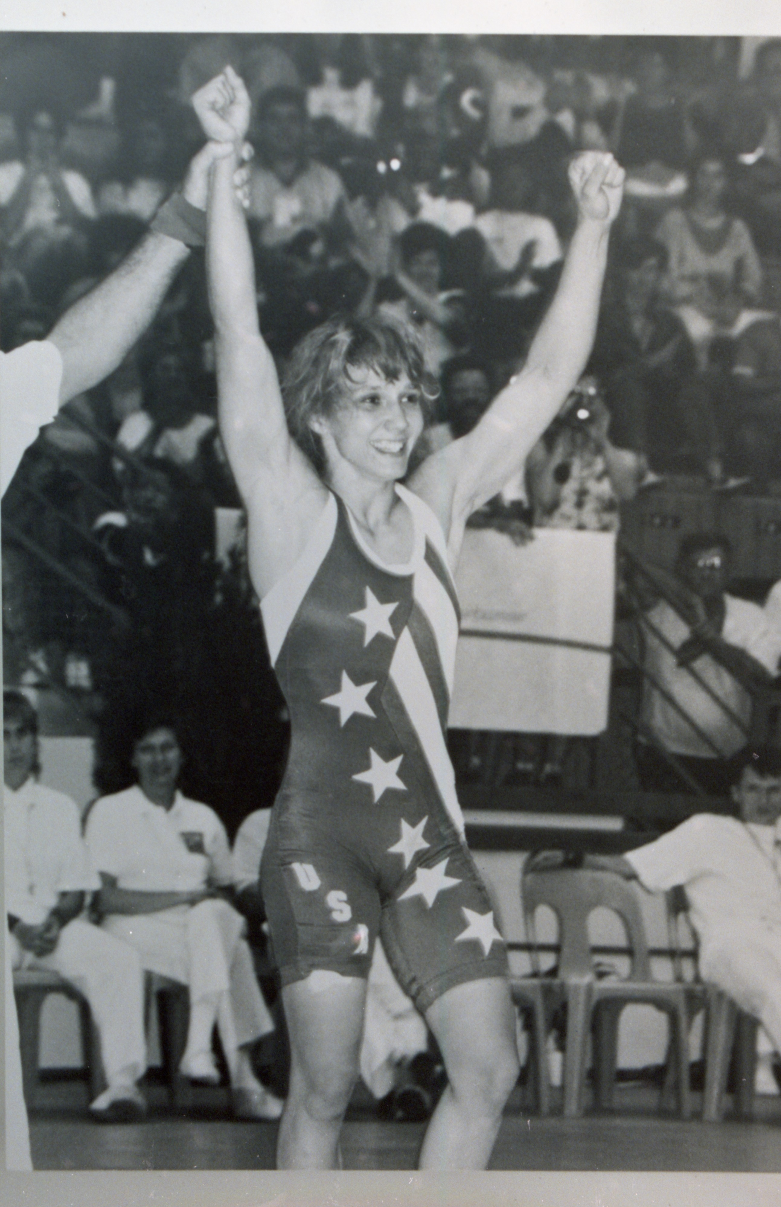 Tricia McNaughton-Saunders, Gold Medalist At The 1992 World Wrestling Championships, Villeurbanne, France (copy) image