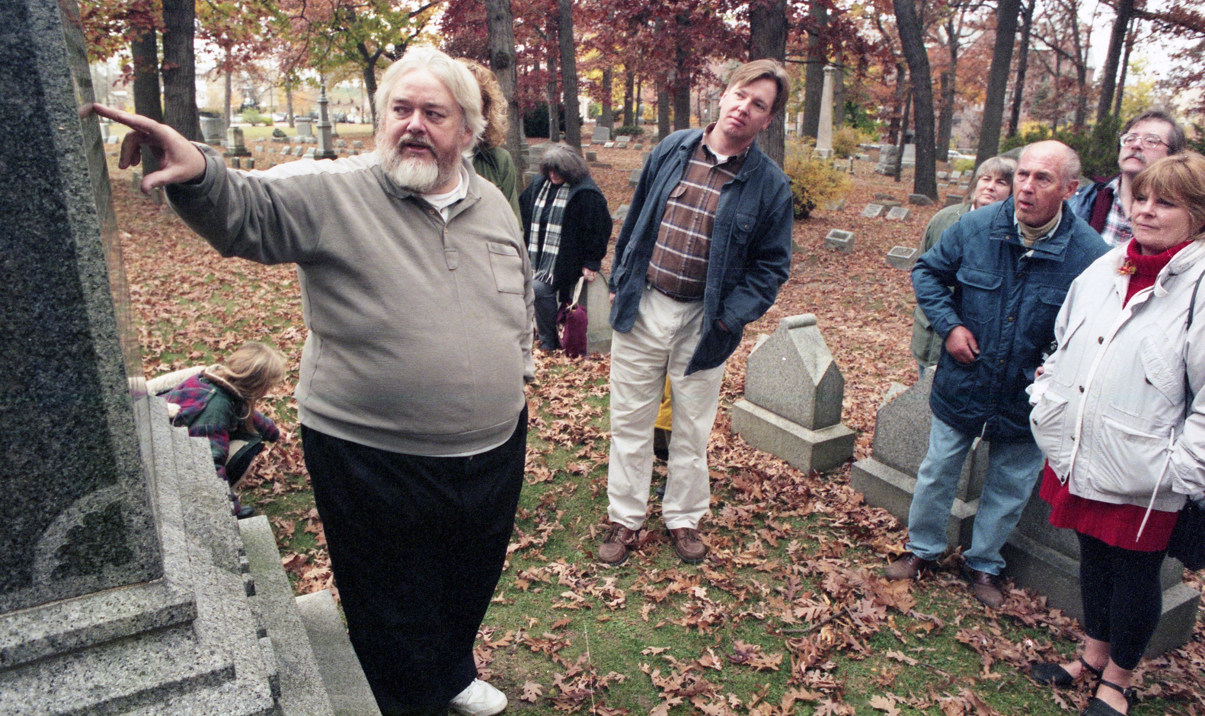 Wystan Stevens Leads His Annual Fall Tour Of Forest Hills Cemetery, November 1998 image