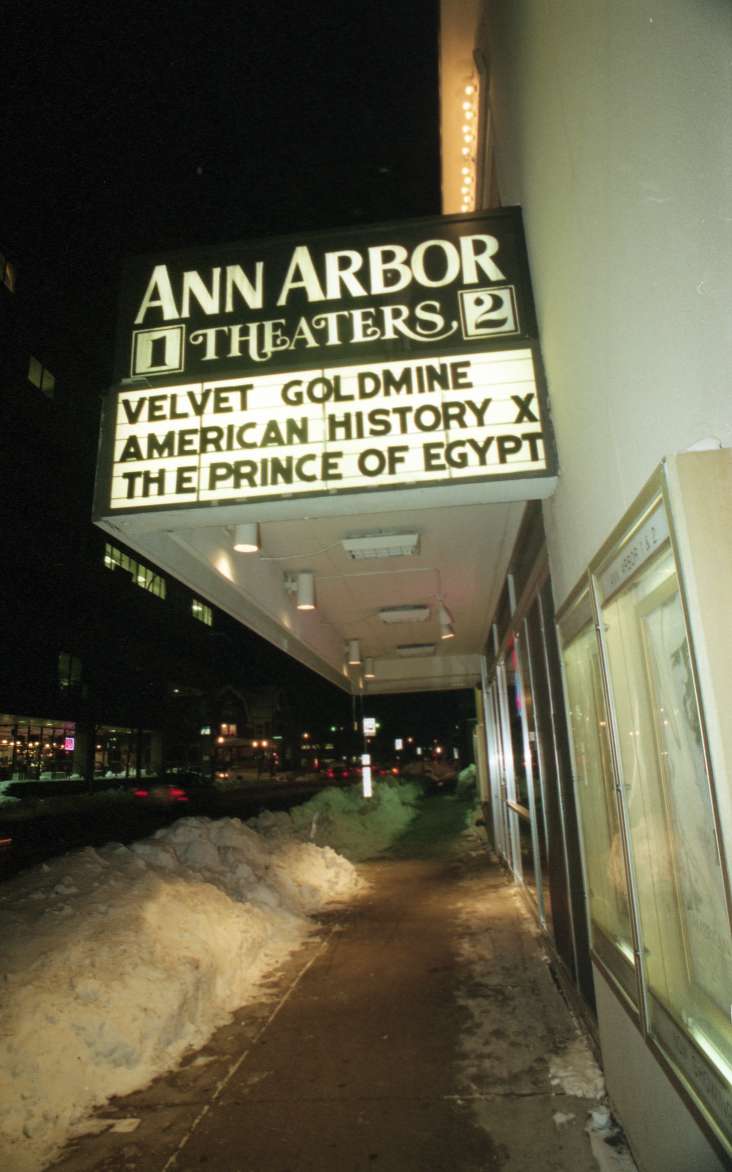 Ann Arbor Theaters 1 & 2, 210 S Fifth Ave, Marquee, January 1999 image
