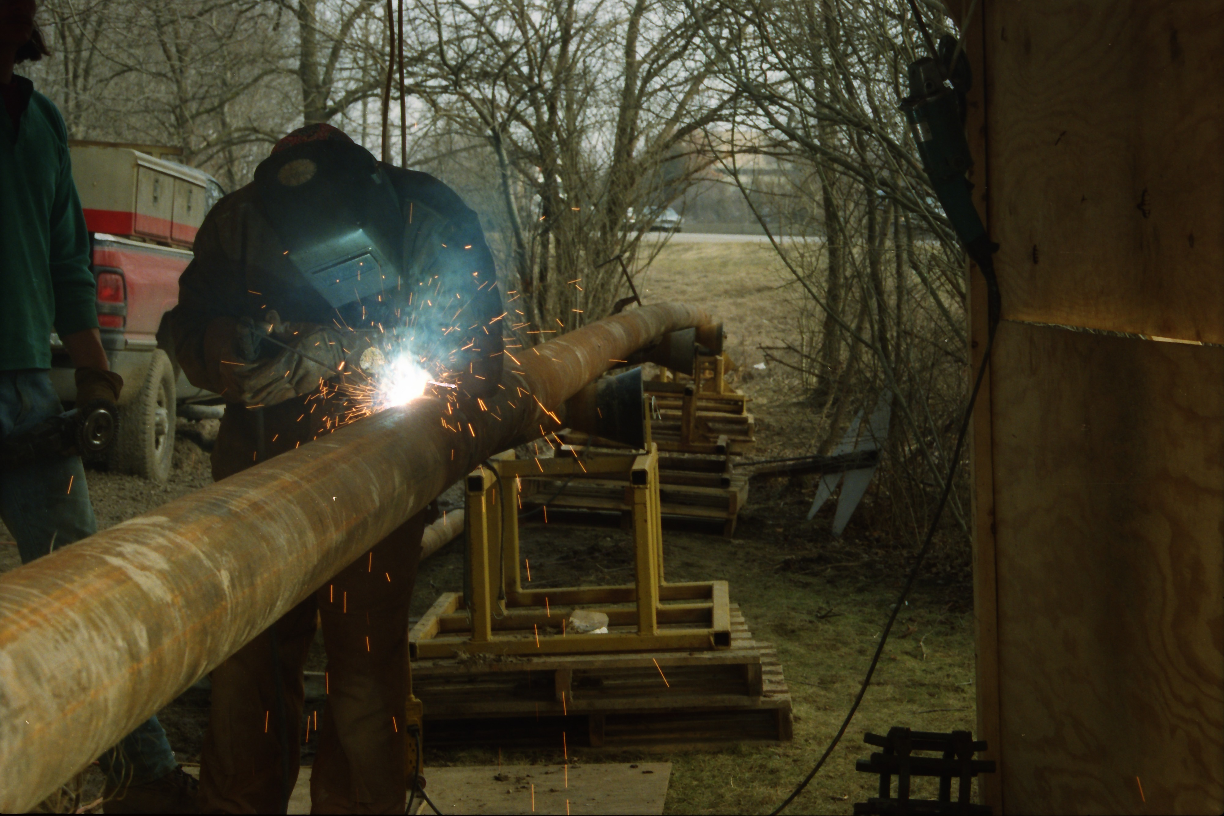 Paul Cherry Welding a Pipeline for Pall Gelman Sciences, Inc. image