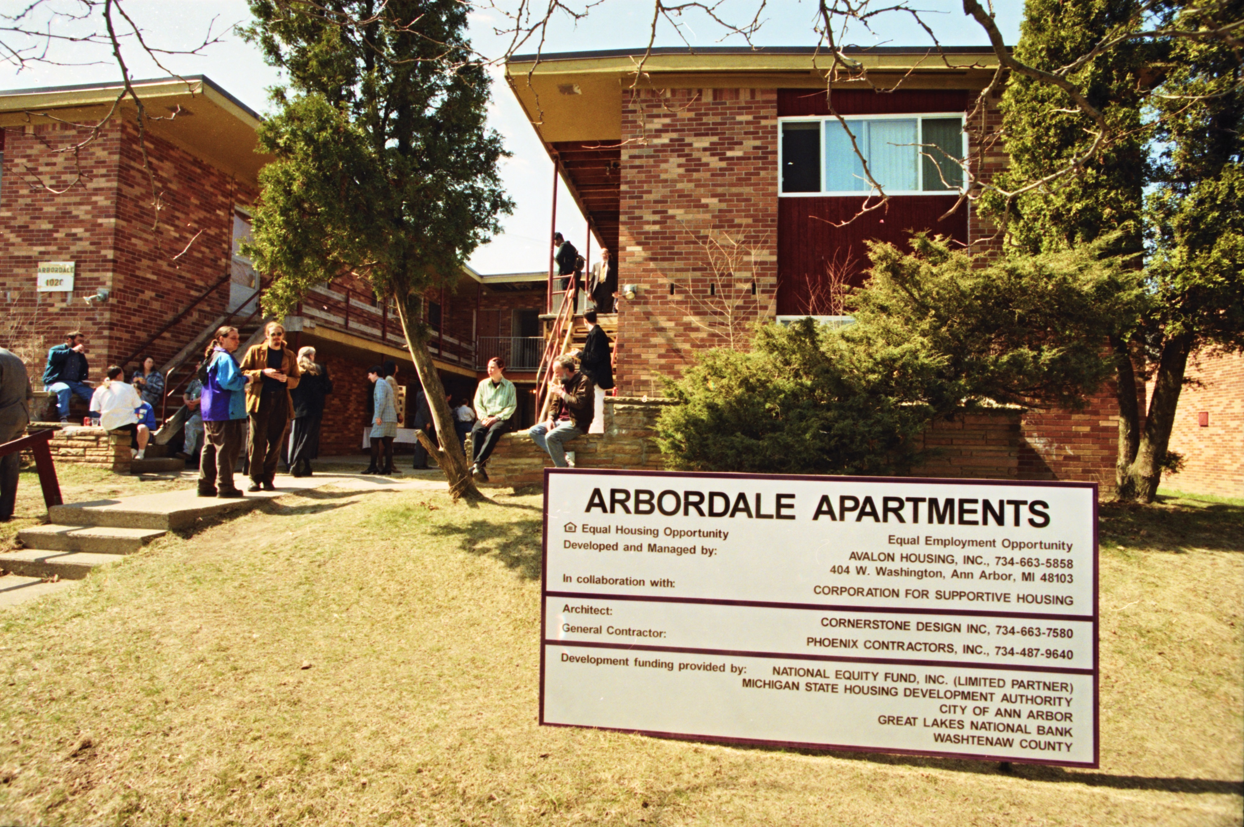 Open House at Arbordale Apartments Following Much-Needed Upgrades, March 1999 image