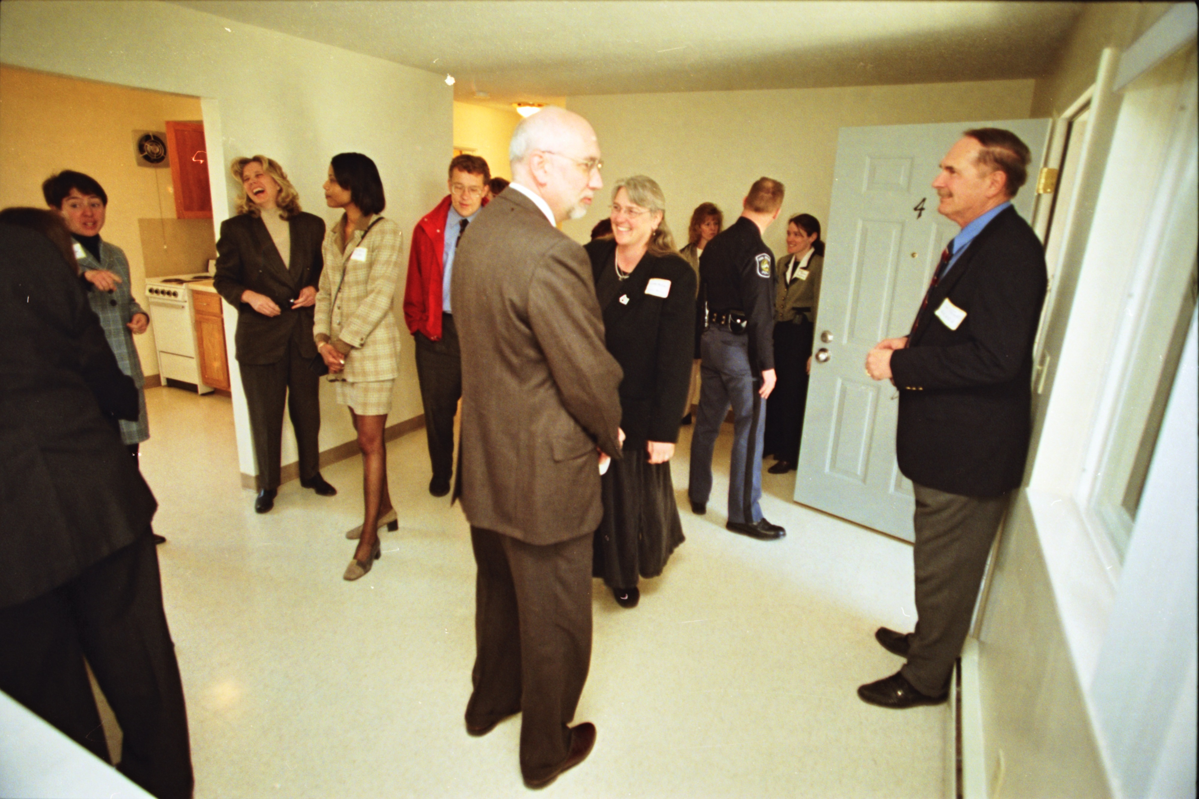 Avalon Housing Holds Open House at Arbordale Apartments Following Their Renovation, March 1999 image