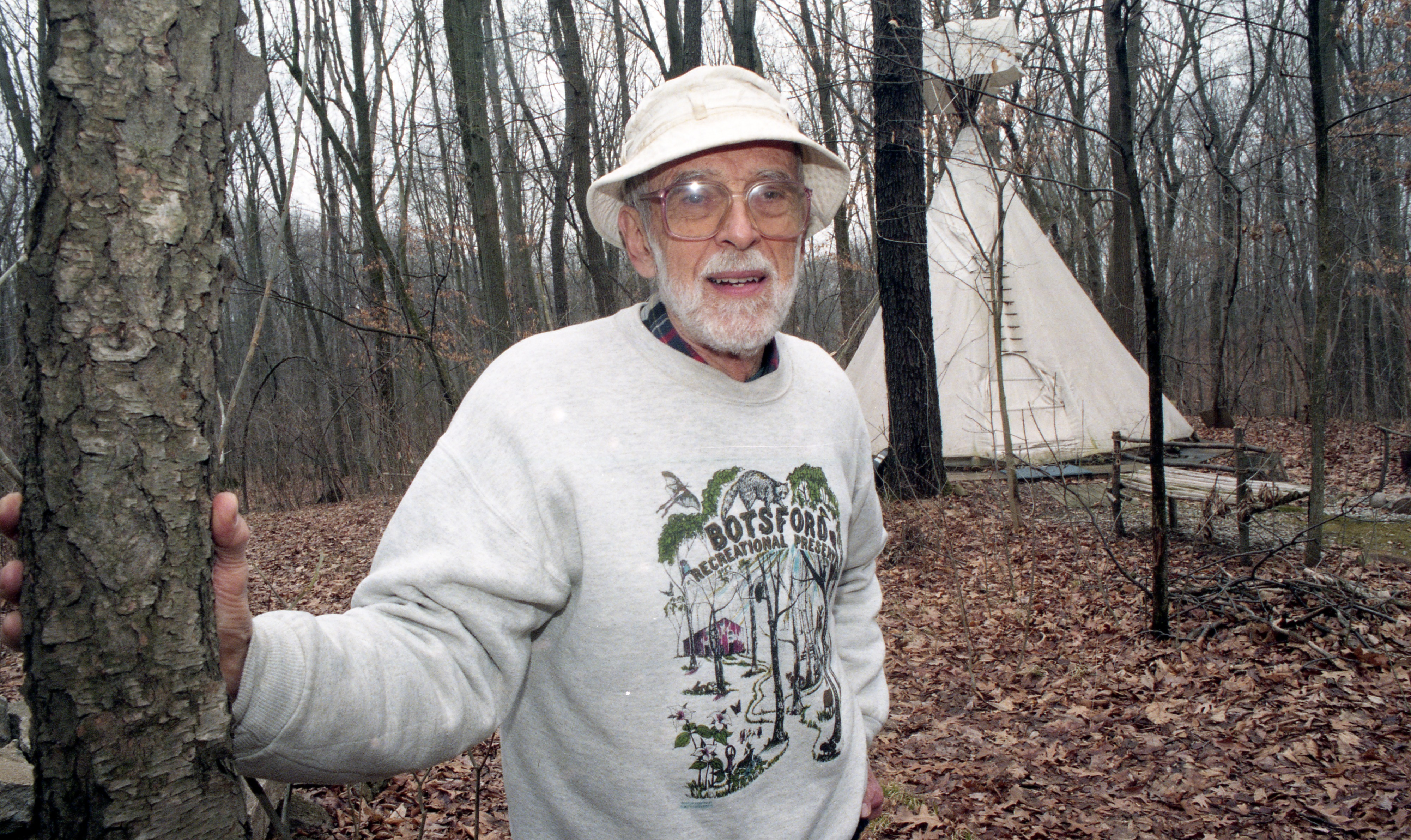 Don Botsford On His 20-Acre Land Preserve, April 1999 image