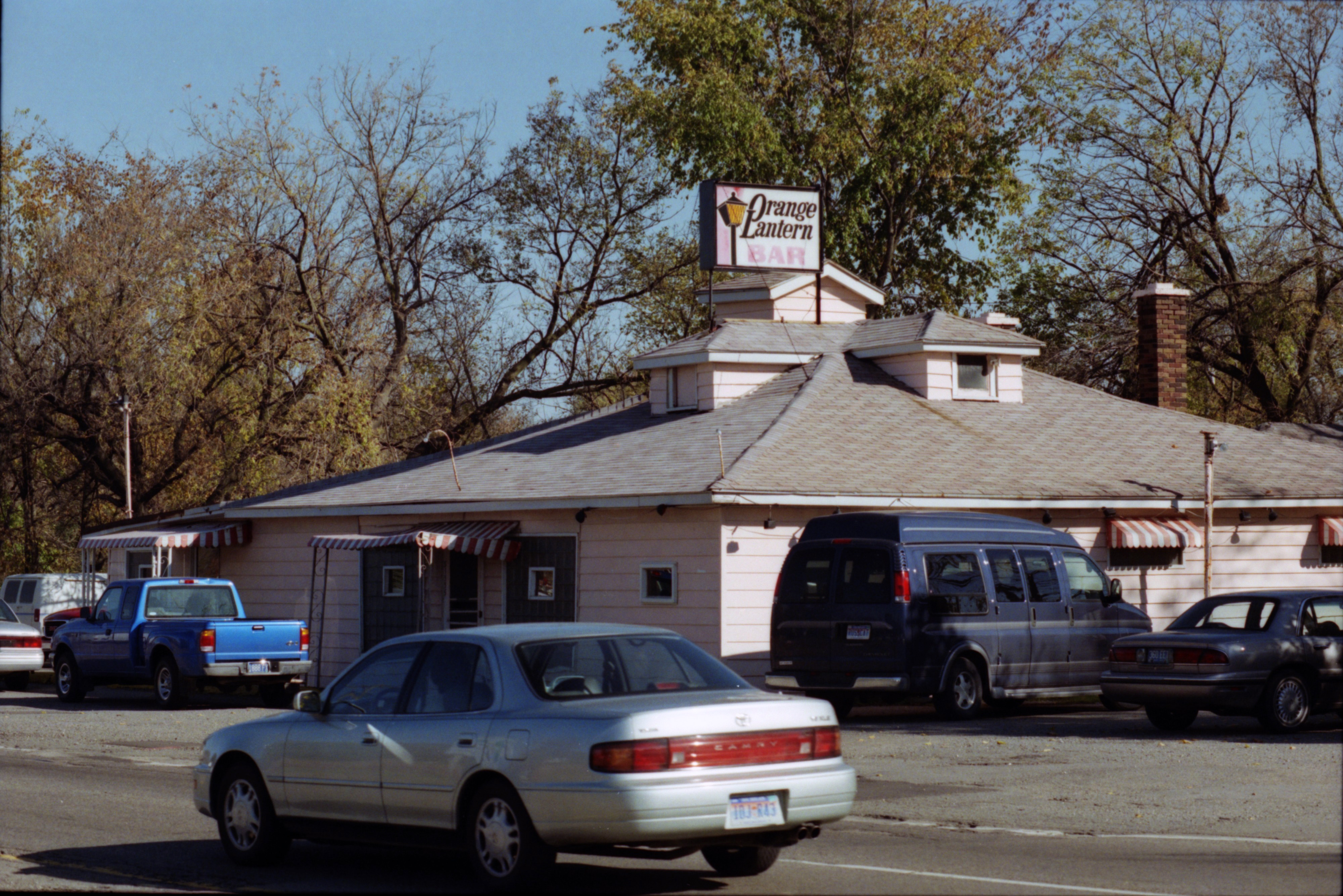 Exterior of Ypsilanti's Orange Lantern Bar on East Michigan Avenue, October 1999 image