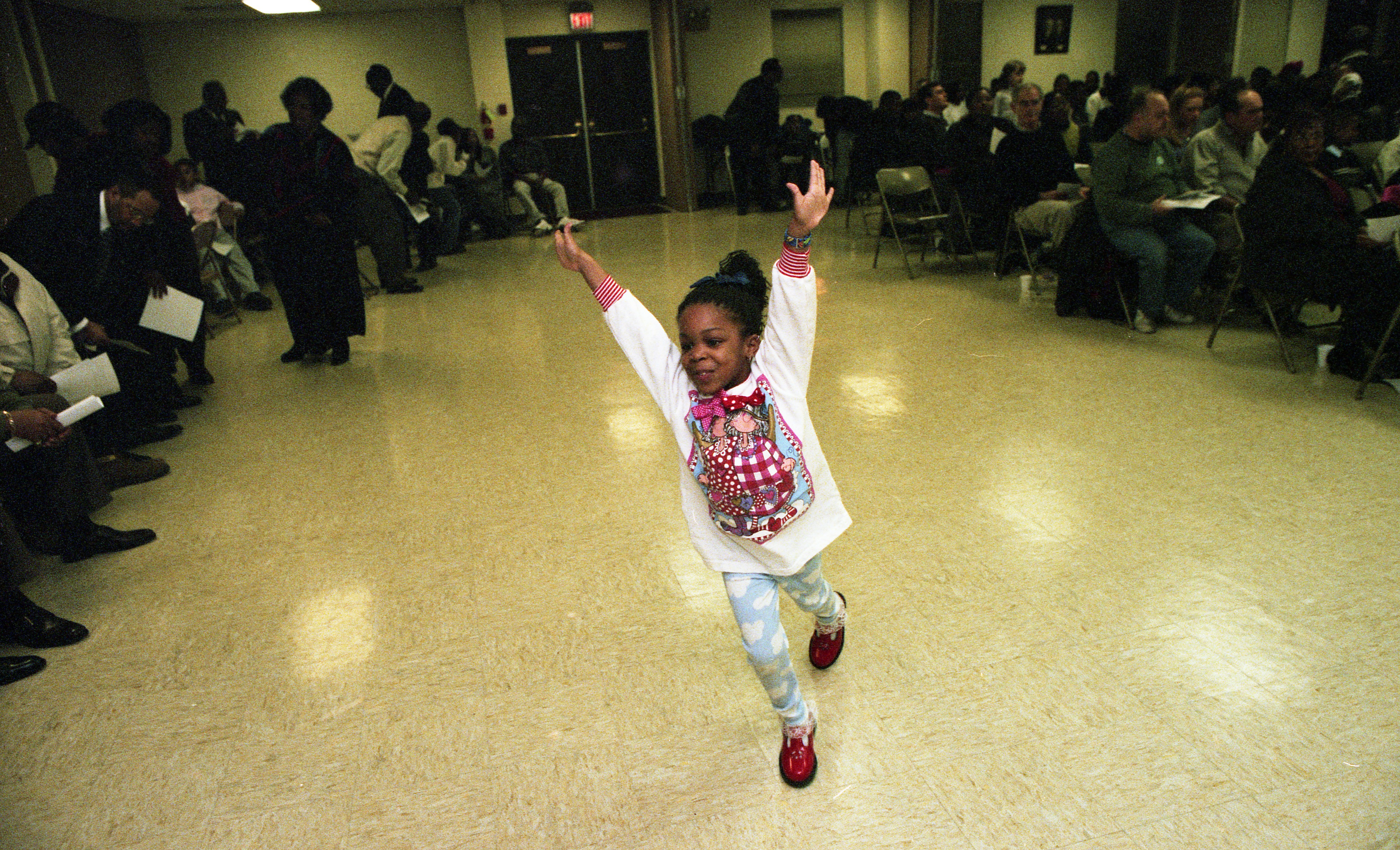 Children Dance at the Second Baptist Church Annual Memorial To Honor Dr. Martin Luther King Jr., January 2000 image