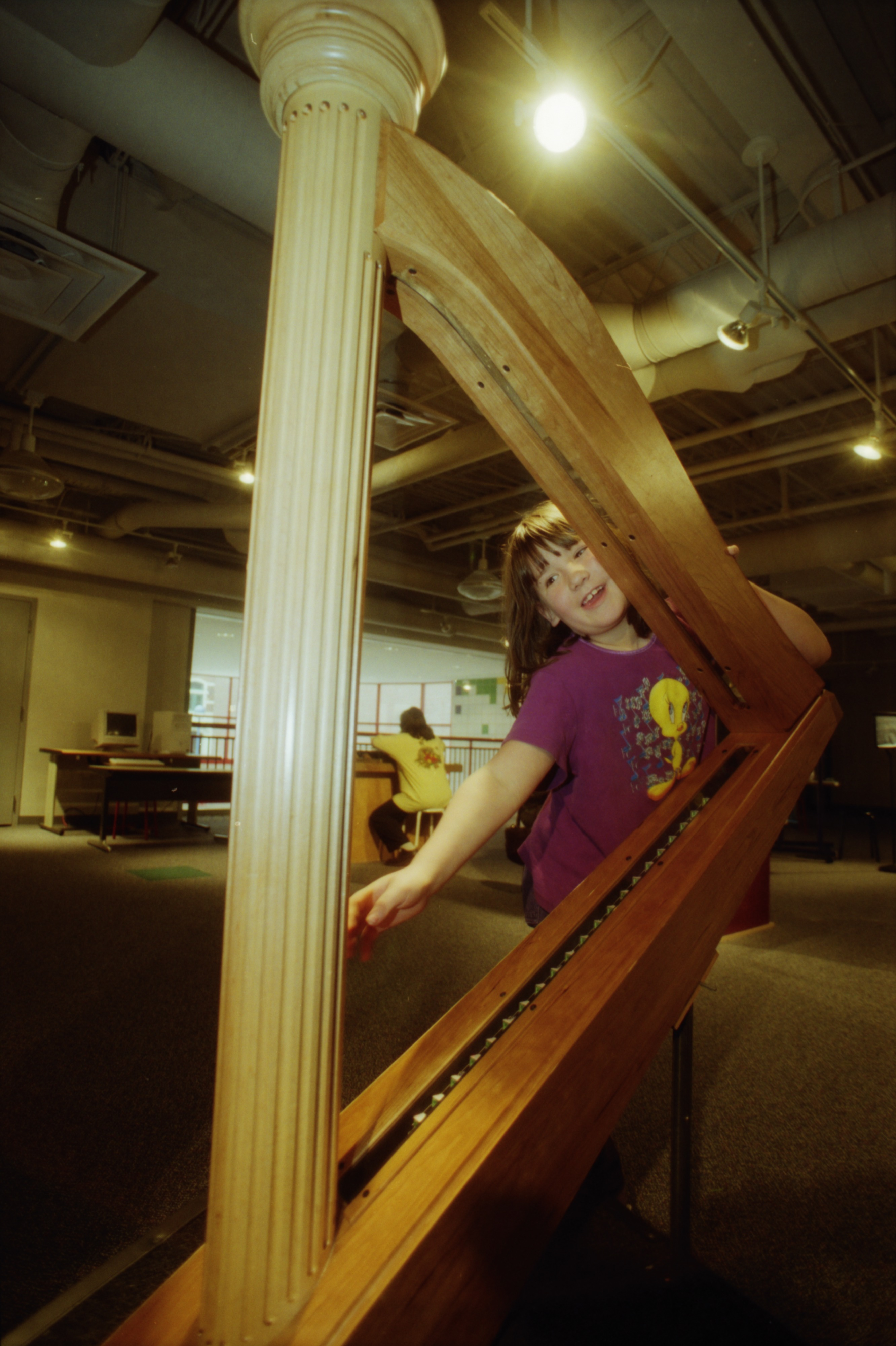 The stringless laser harp at the Hands-On Museum image