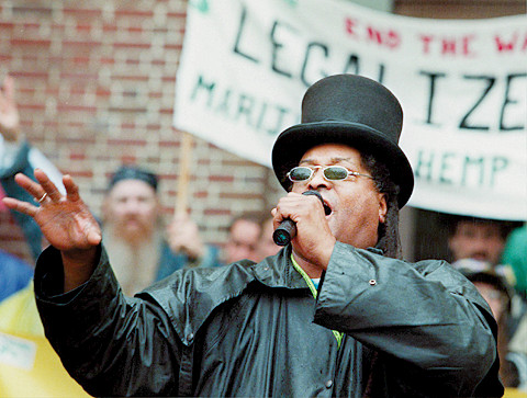 Chef Ra Speaks At Hash Bash, April 6, 1997 image
