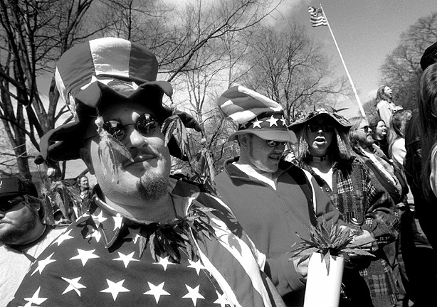 Hash Bash Participants Dressed Up For The Event, April 5, 1998 image