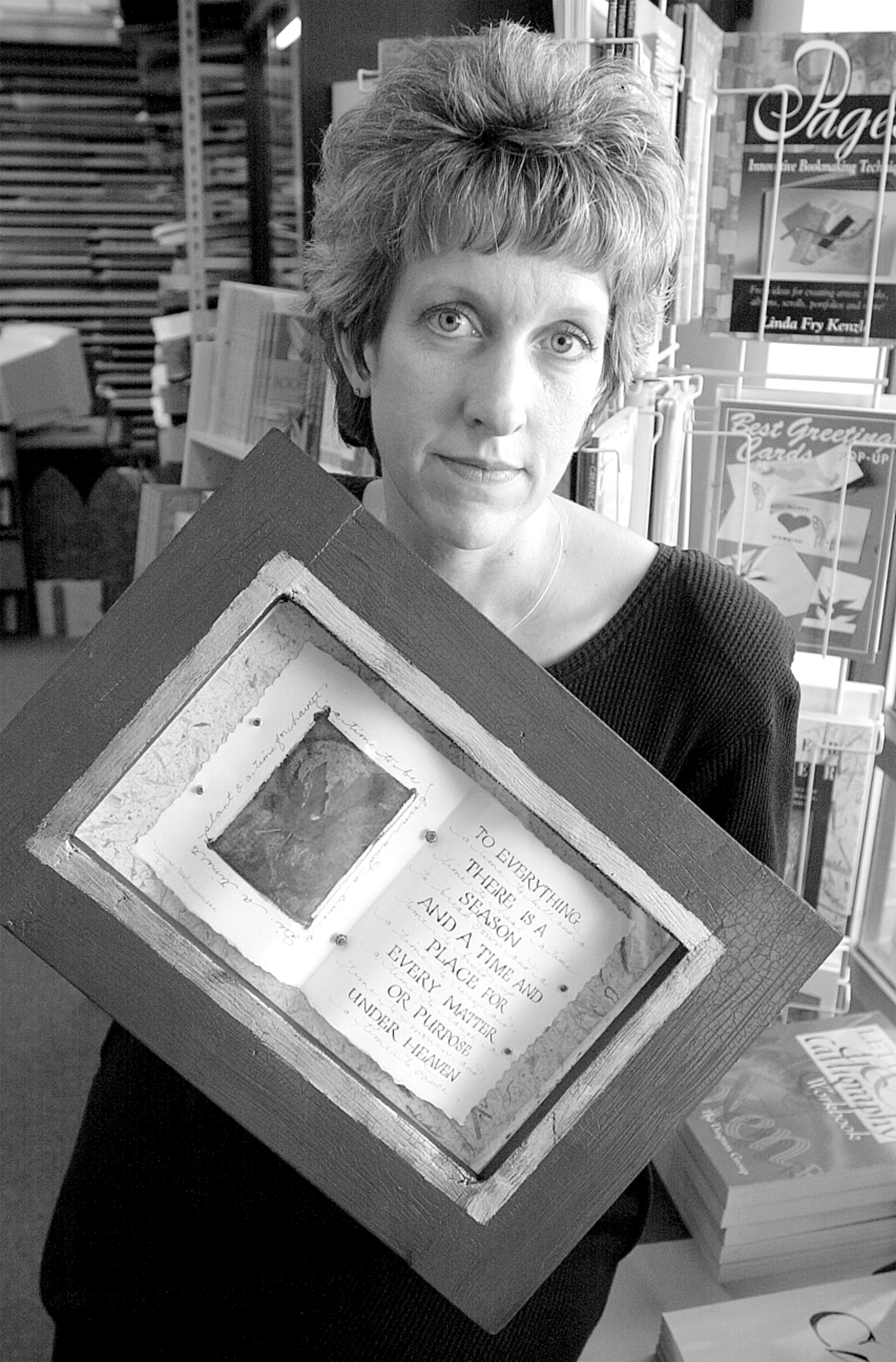 Patti Monroe-Mohrenweiser with Artwork at Hollander's, November 2000 image