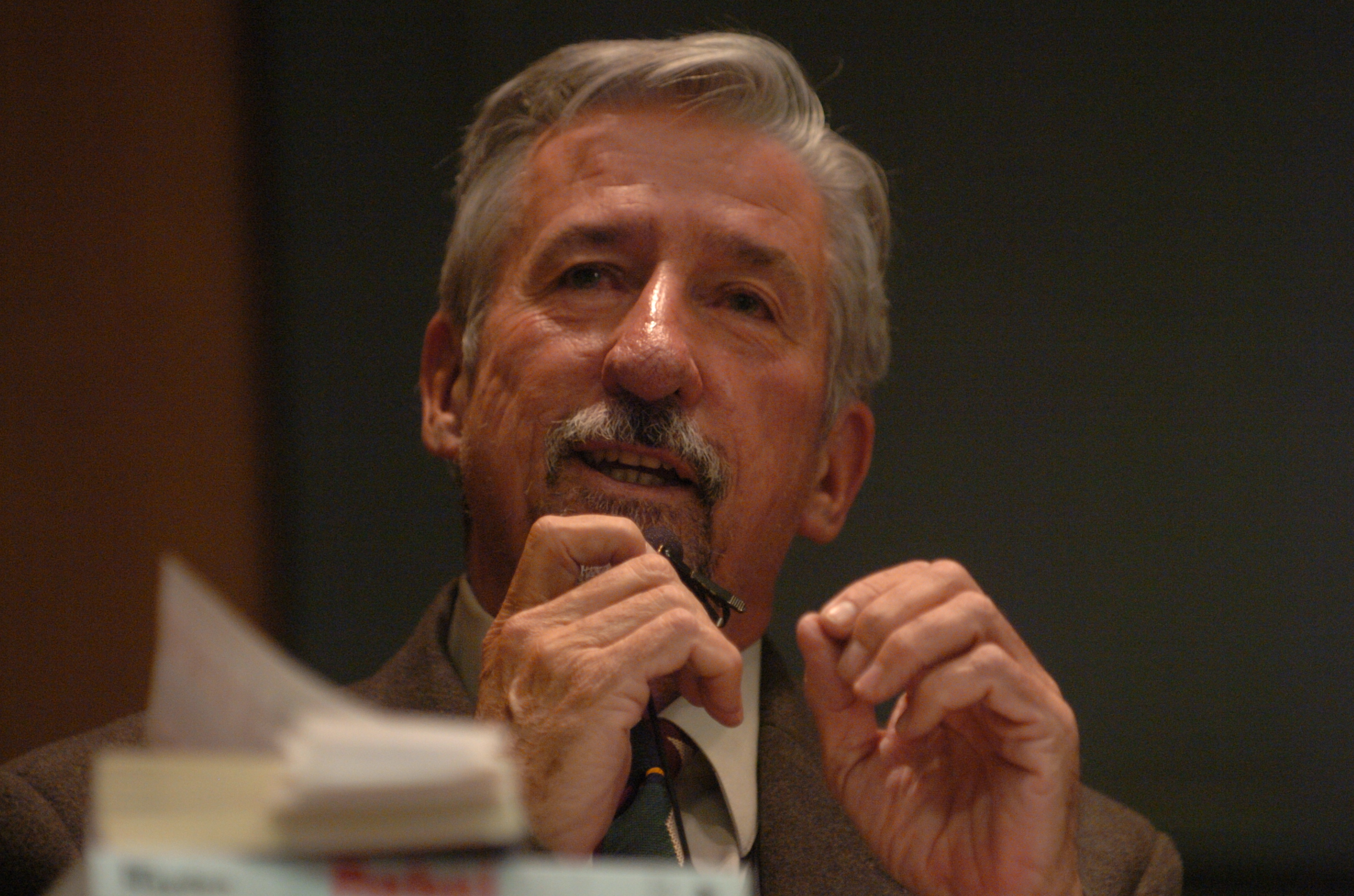Tom Hayden at 40th Anniversary Commemoration of University of Michigan Teach-In, March 2005 image