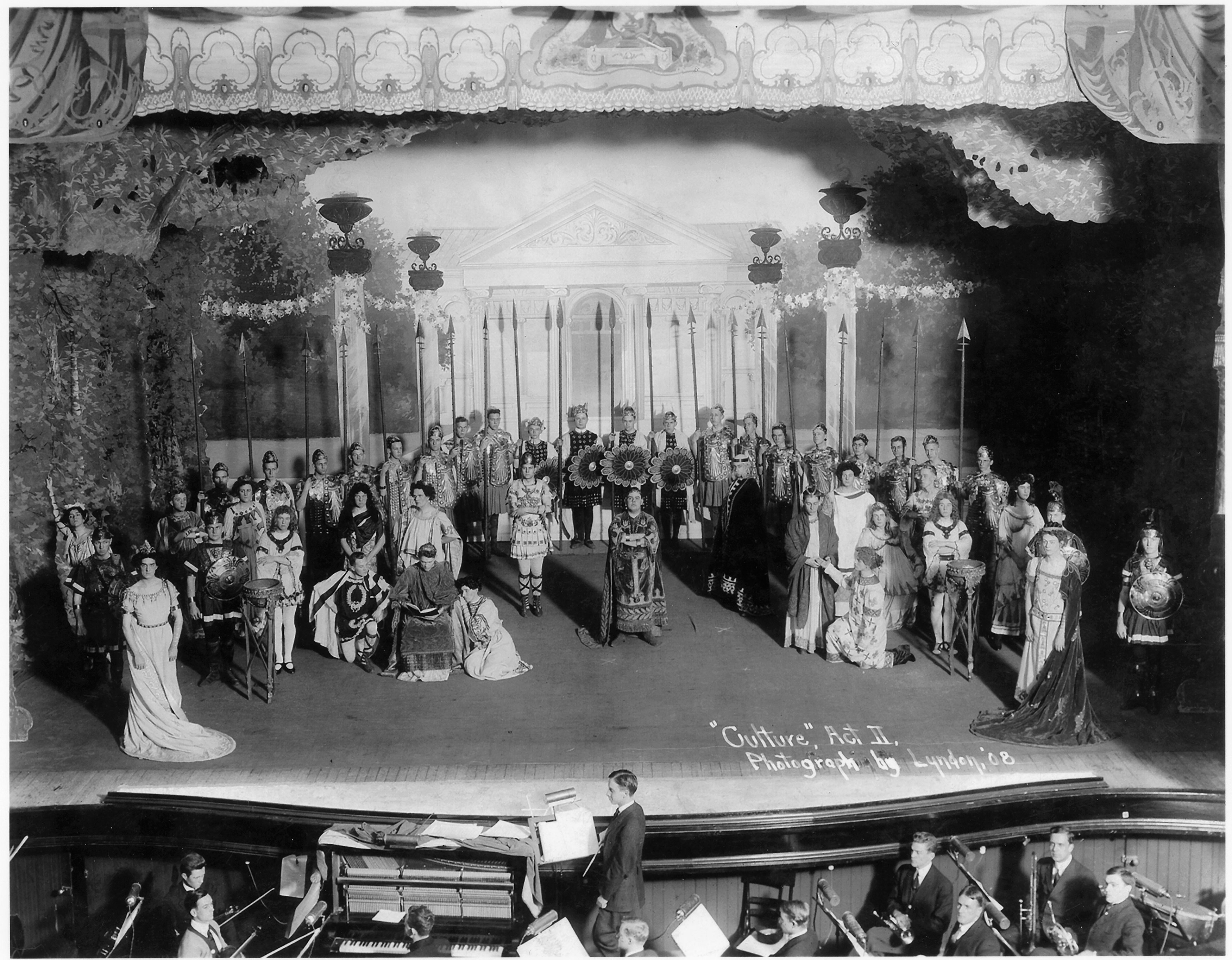 """Culture"" production in Whitney Theater, 1908 image"