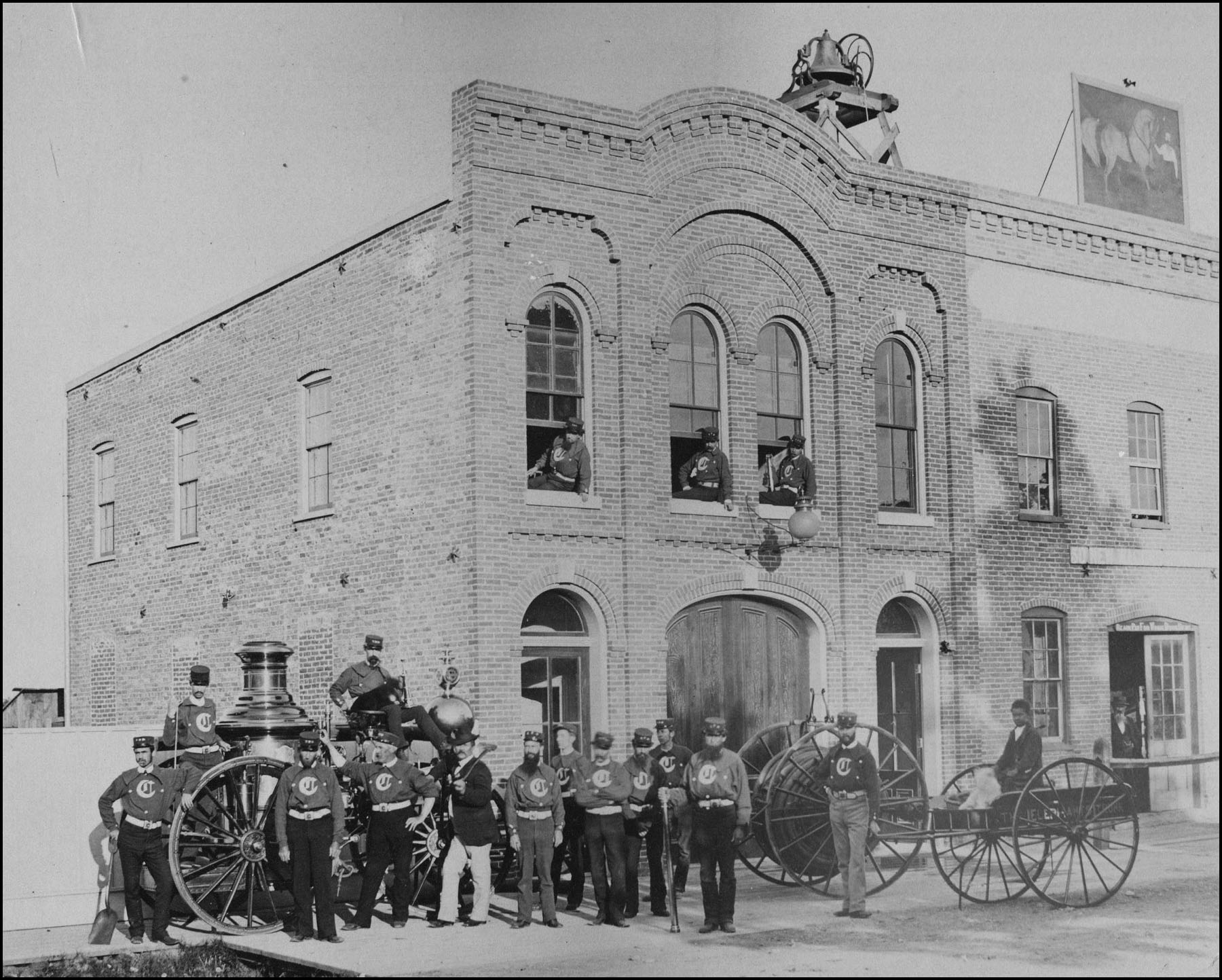 Ypsilanti Firefighters, 1870 image