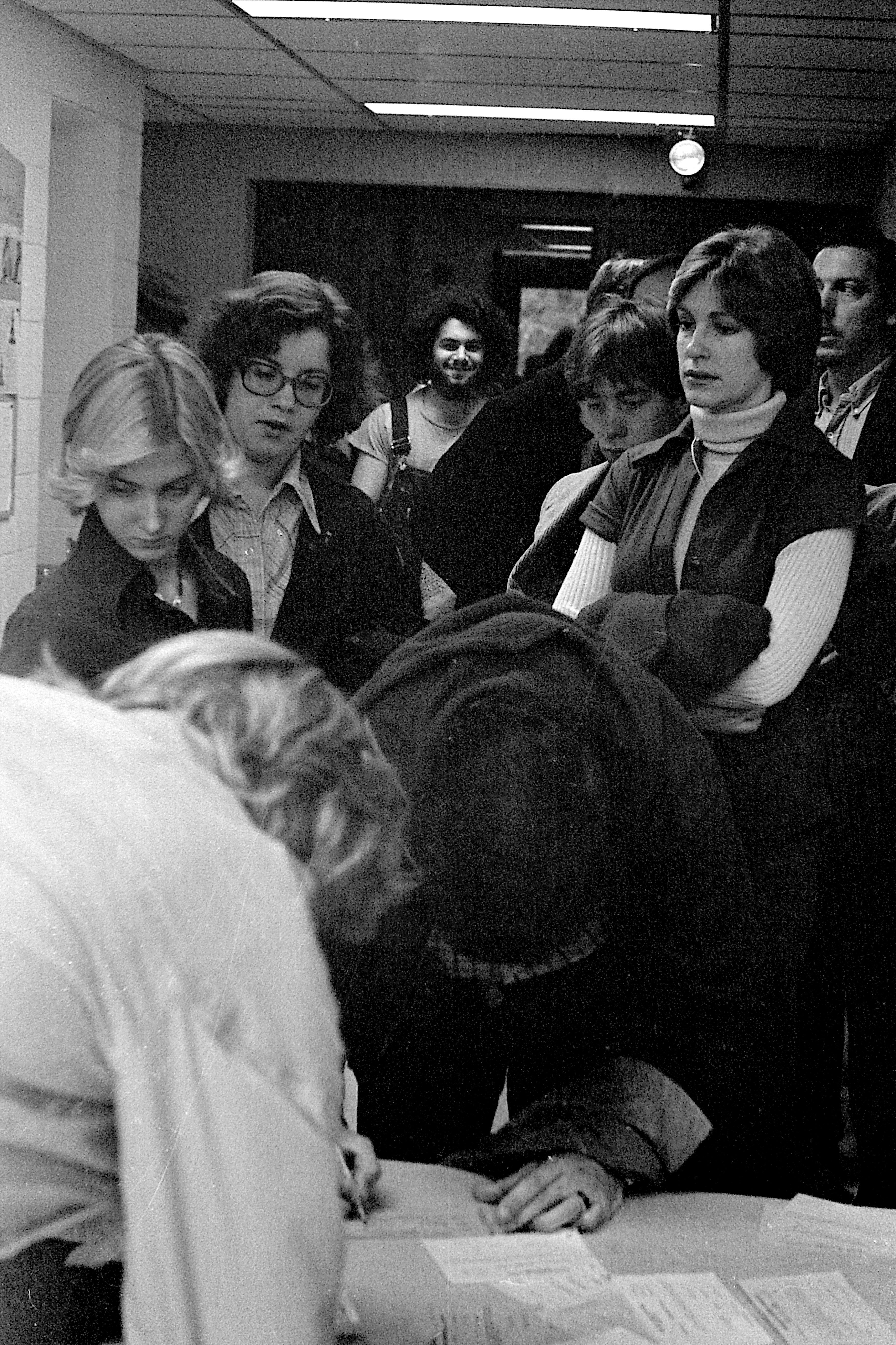 Waiting in Line to Vote in the Presidential Election, November 1976 image
