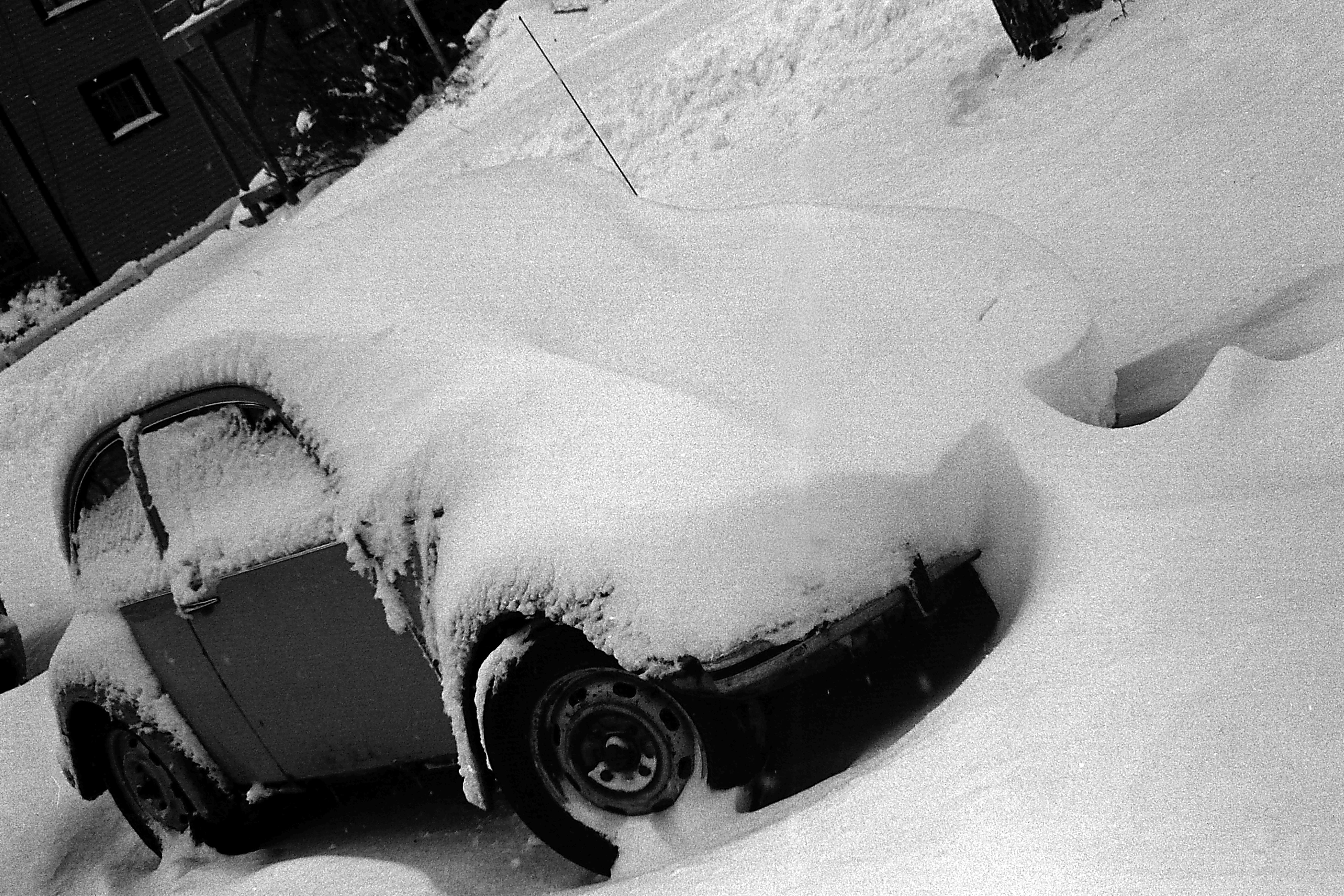VW Beetle During Great Blizzard, January 1978 image