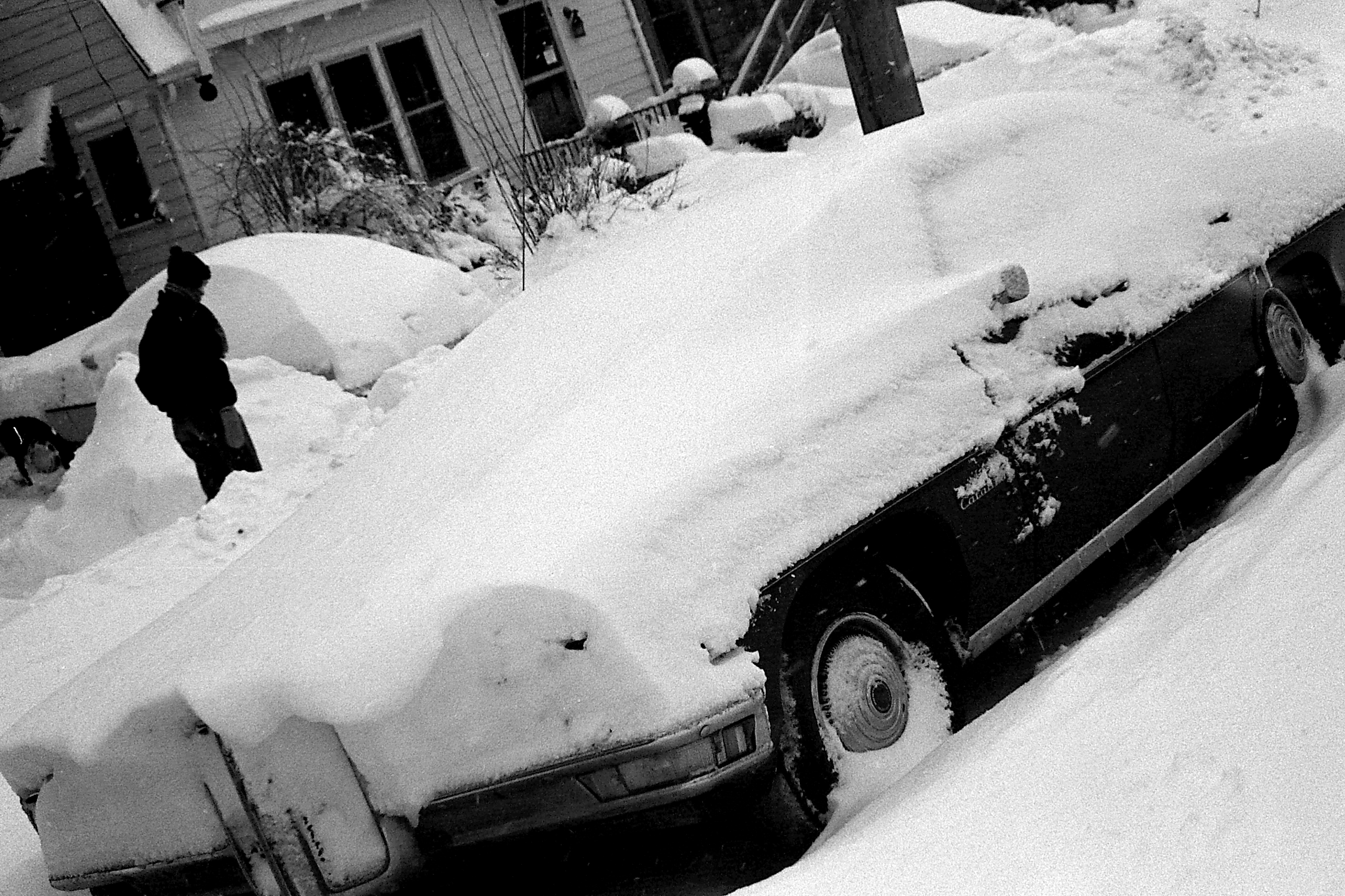 Pontiac Catalina Covered In Snow, The Great Blizzard, January 1978 image